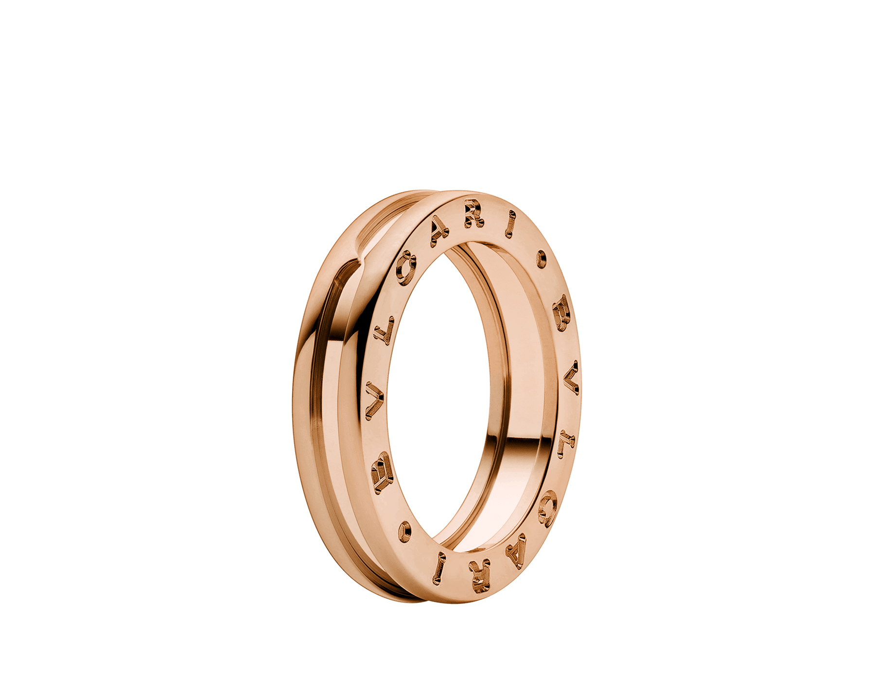 B.zero1 one-band ring in 18 kt rose gold. B-zero1-1-bands-AN852422 image 1