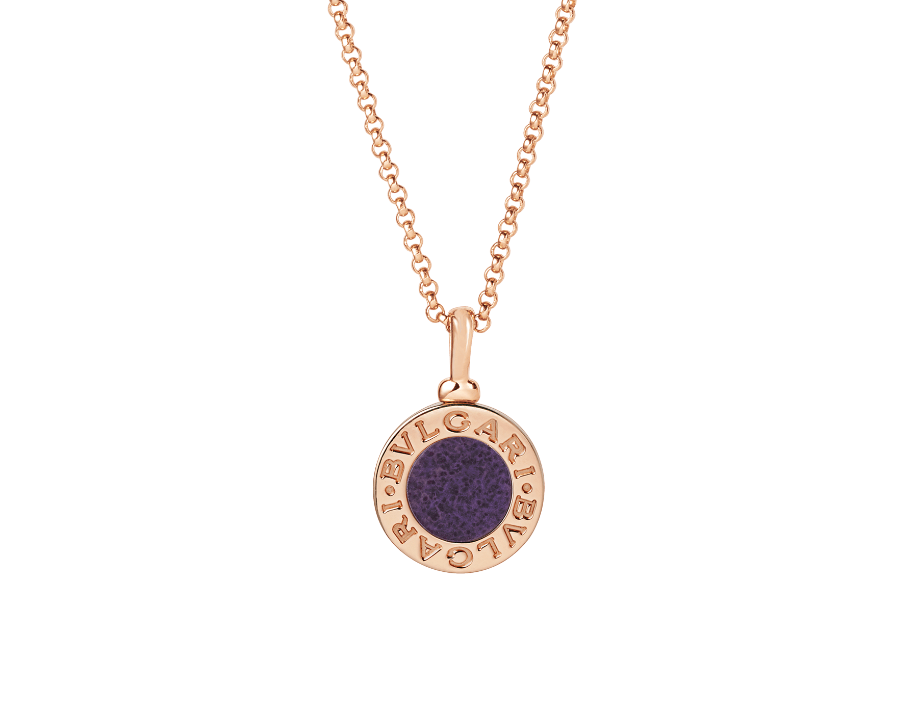 BVLGARI BVLGARI 18 kt rose gold necklace set with sugilite element 356192 image 1