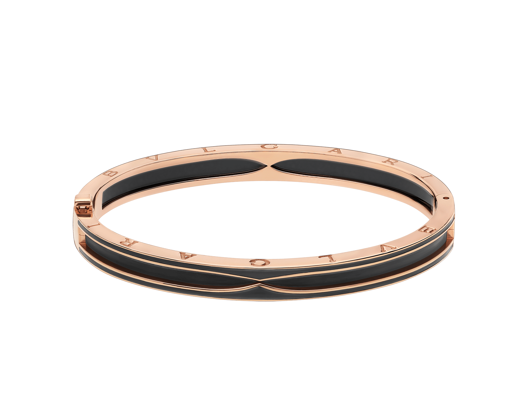 B.zero1 bracelet in 18 kt rose gold with matte black ceramic BR859063 image 2