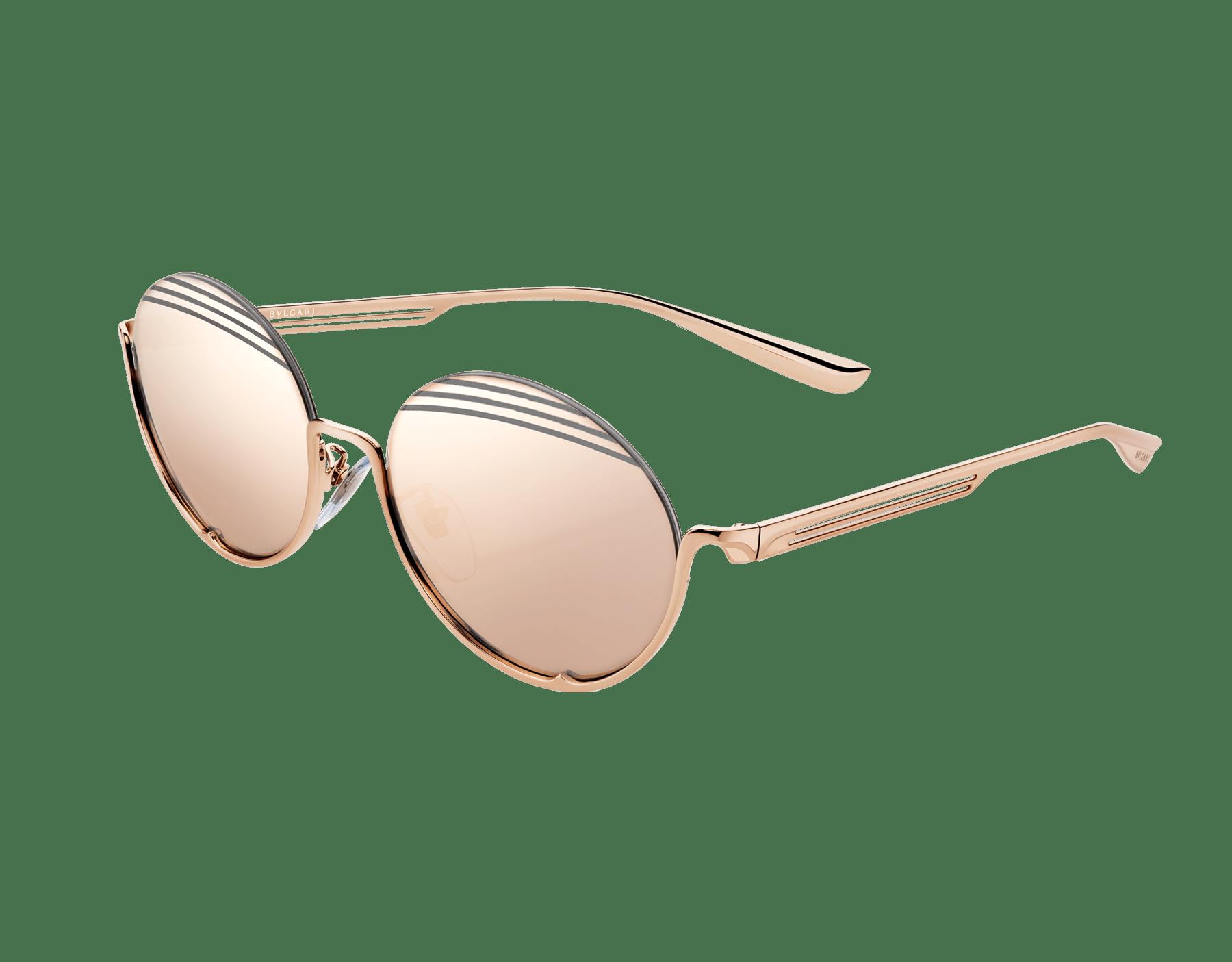 Bvlgari B.zero1 B.stripe semi-rimless oval metal sunglasses. 903713 image 1