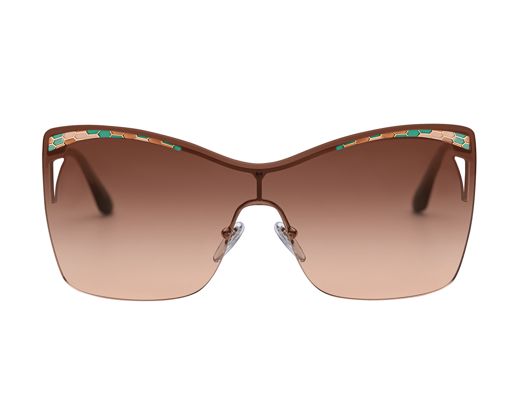Bulgari Serpenti eye-bite metal shield sunglasses. 903982 image 2