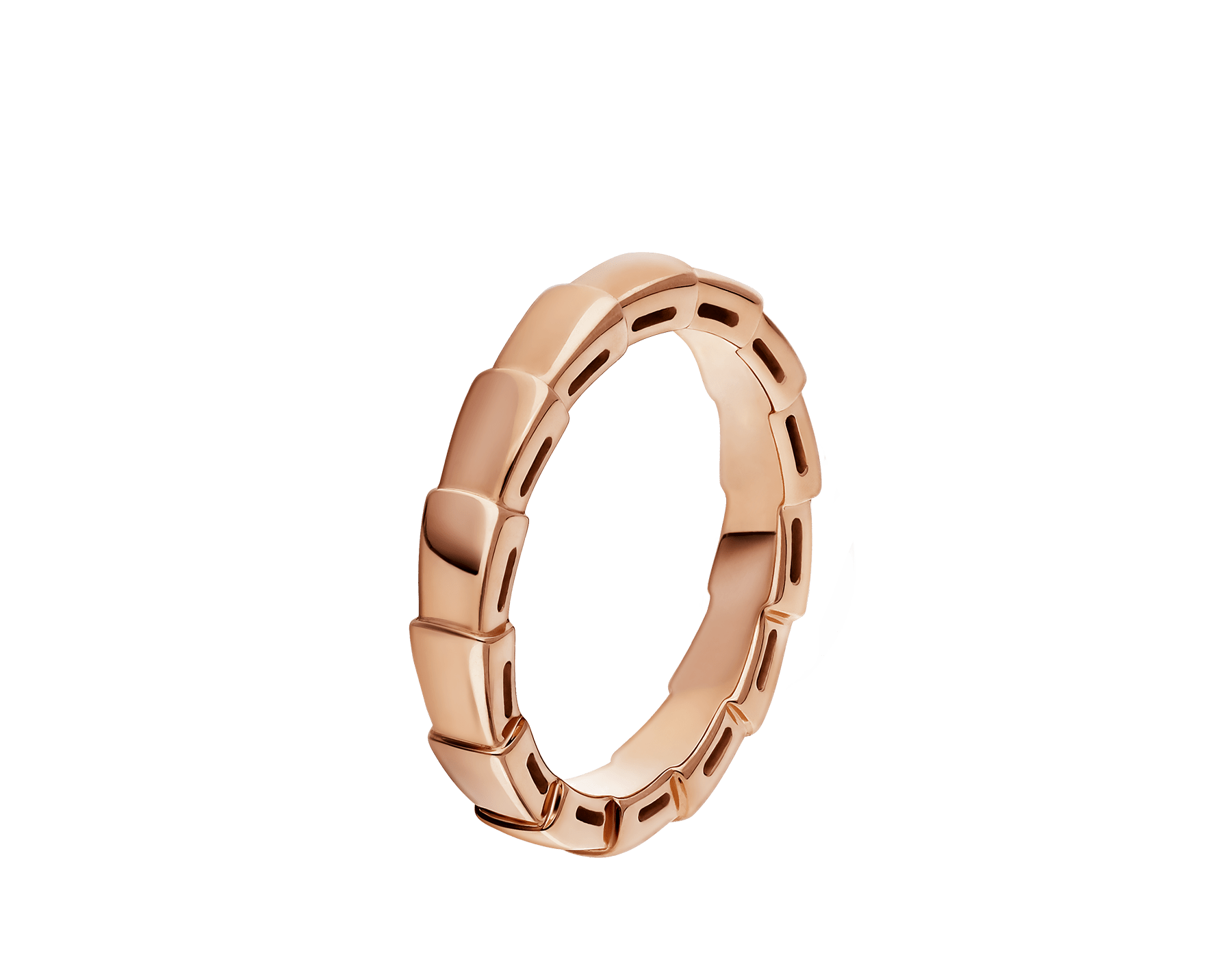 Serpenti Viper wedding band in 18 kt rose gold. AN856868 image 1