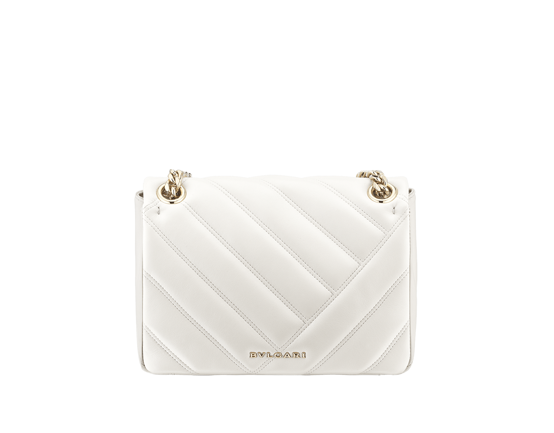 Serpenti Cabochon shoulder bag in soft matelassé white agate nappa leather with graphic motif and white agate calf leather. Snakehead closure in rose gold plated brass decorated with matte black and white enamel, and black onyx eyes. 287993 image 3