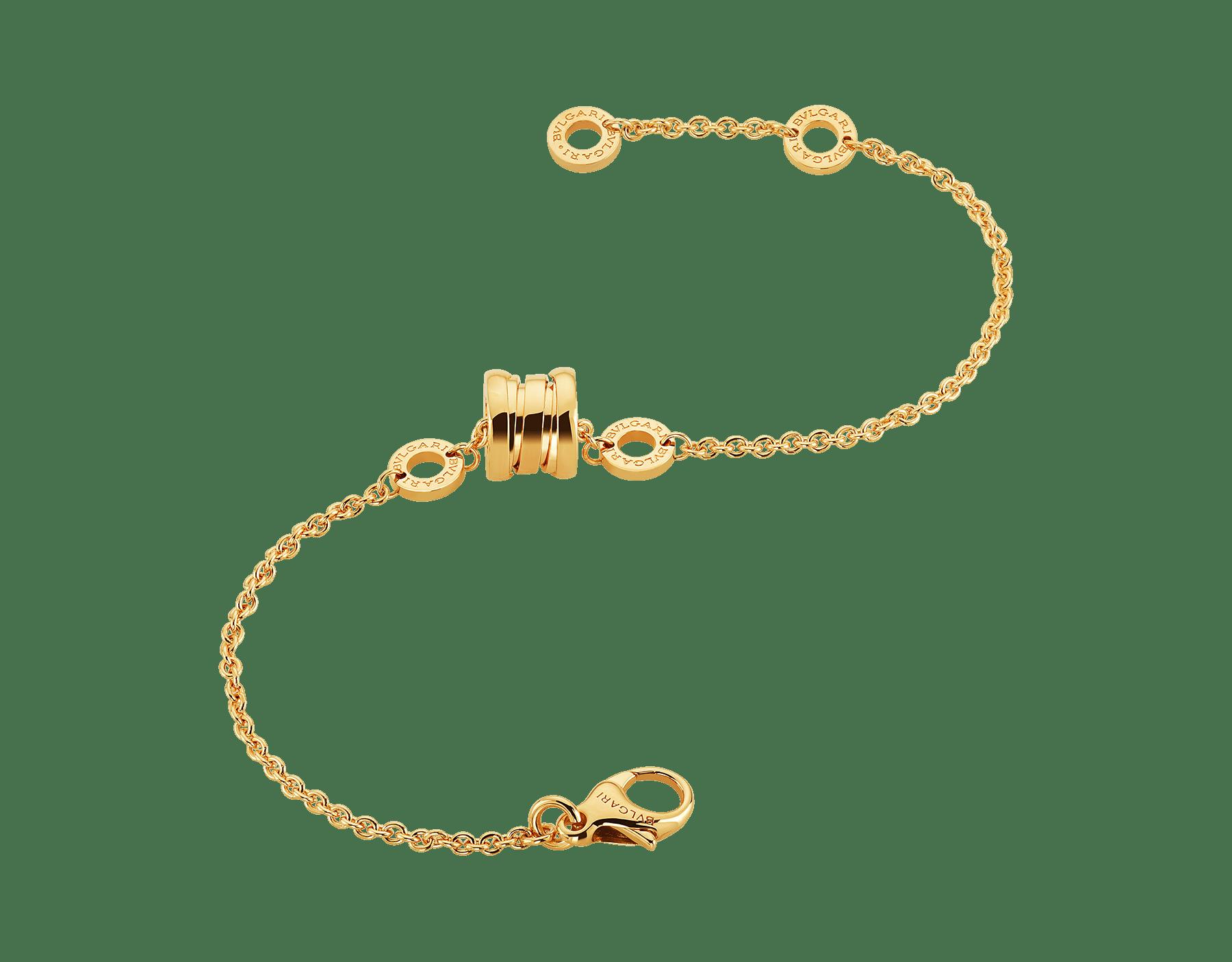 Composé d'une chaîne souple en or jaune et de l'emblématique spirale sous forme de pendentif tendance, le bracelet B.zero1 révèle l'esprit contemporain de son design polyvalent et original. BR853667 image 2