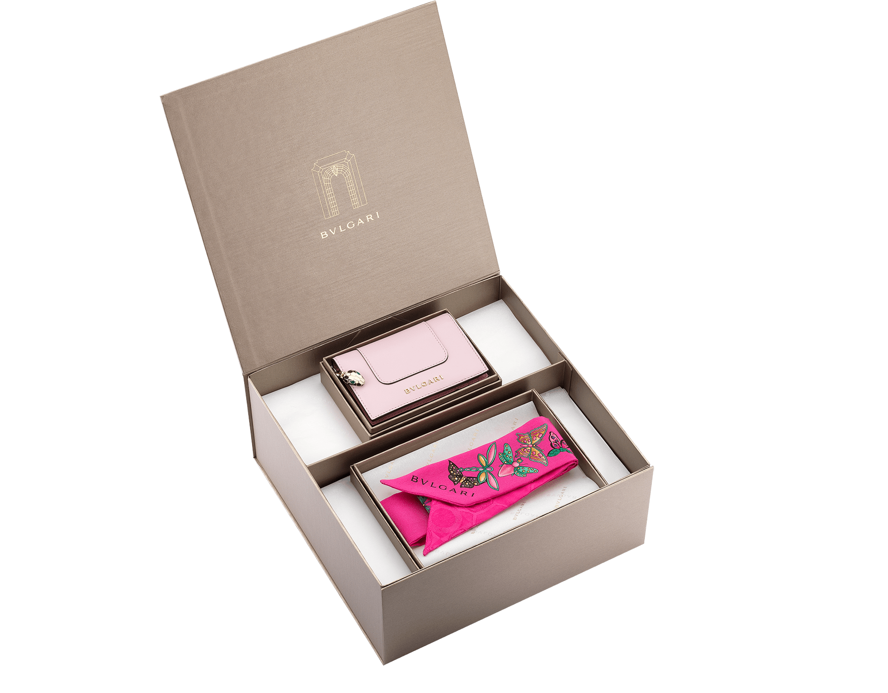An elegant gift set made of your personalized selection of Bvlgari creations; A creative way to pick and choose the perfect gifts.                       