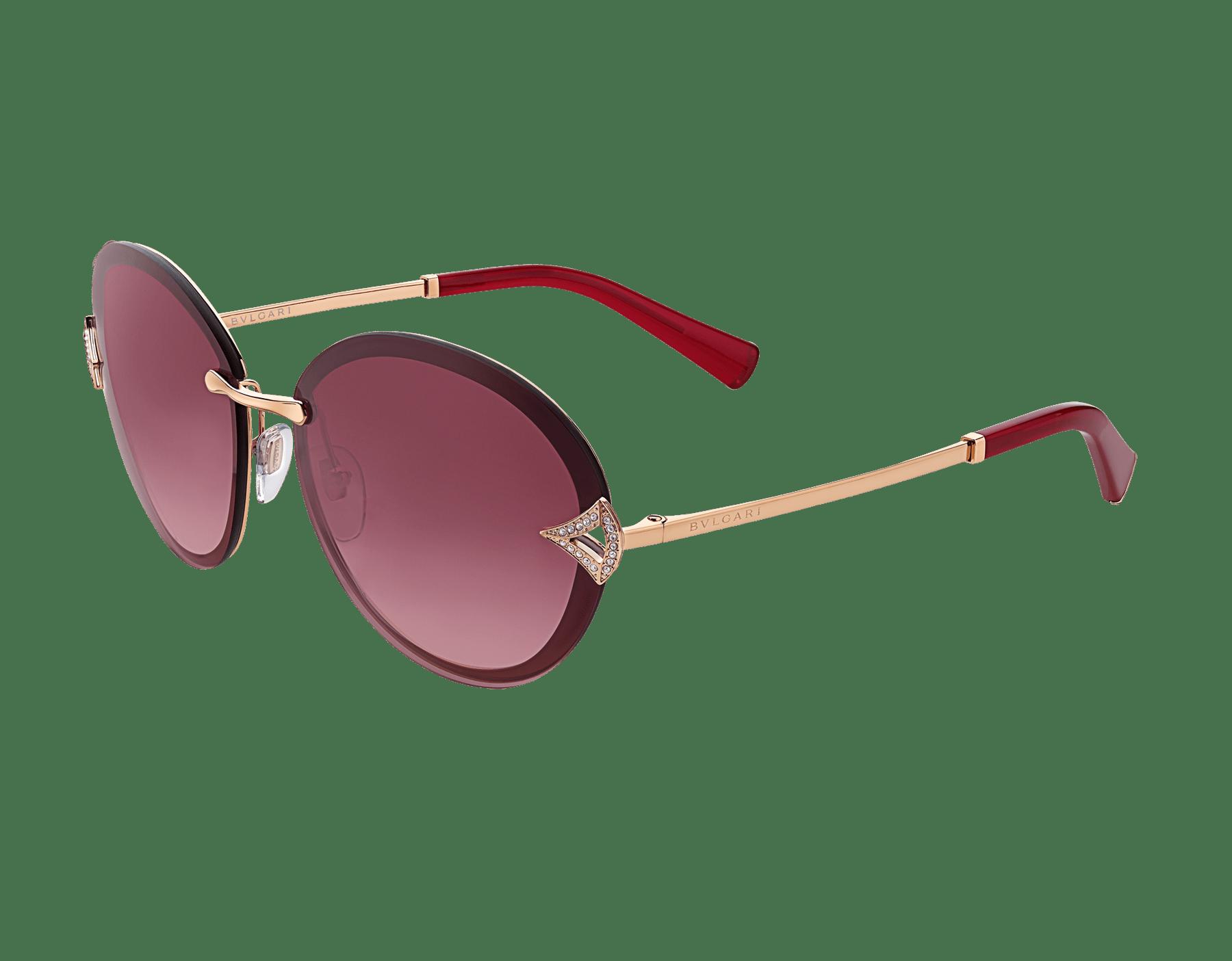 Bulgari Divas' Dream round metal sunglasses with Divas' Dream metal décor and crystals. 903910 image 1