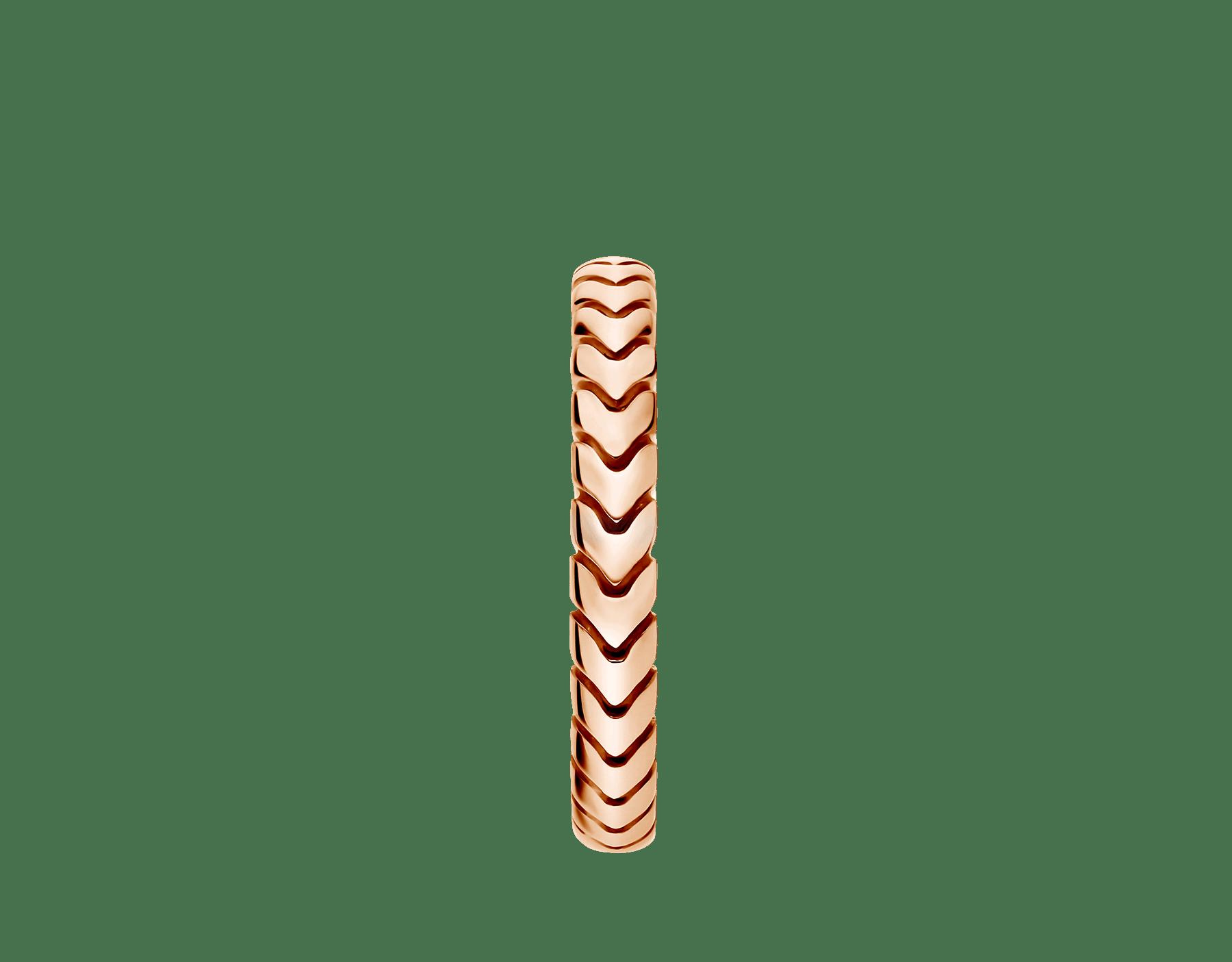 Anel de casamento Spiga 18K em ouro rosa. (3mm de largura) AN856860 image 2