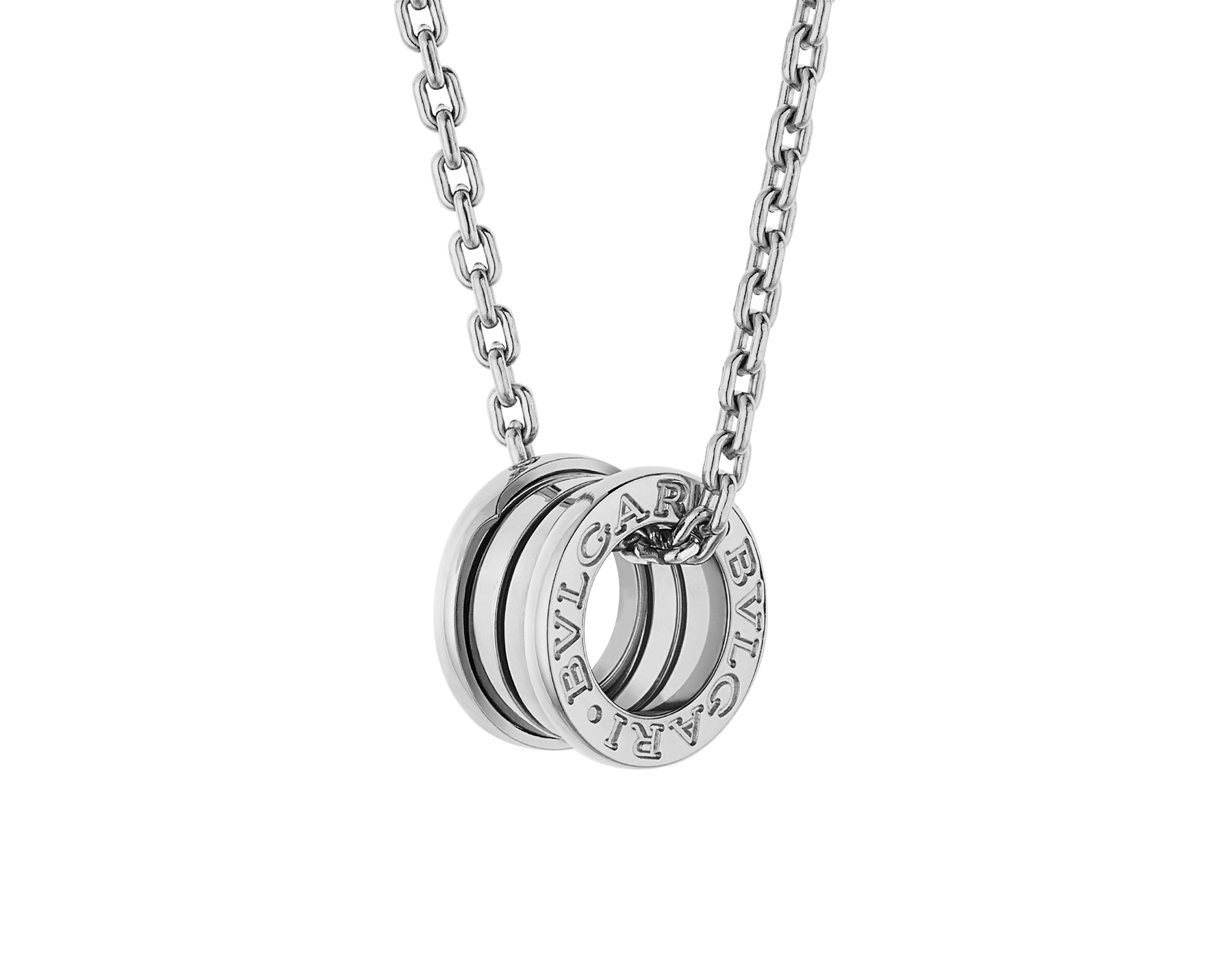 B.zero1 pendant necklace in 18 kt white gold 358347 image 1