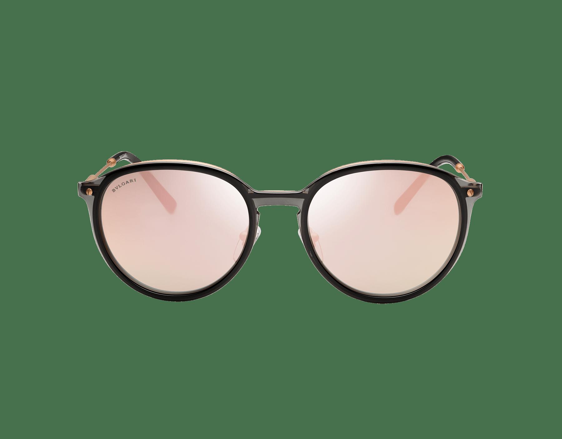 Óculos de sol Diagono com formato redondo em metal. 903556 image 2