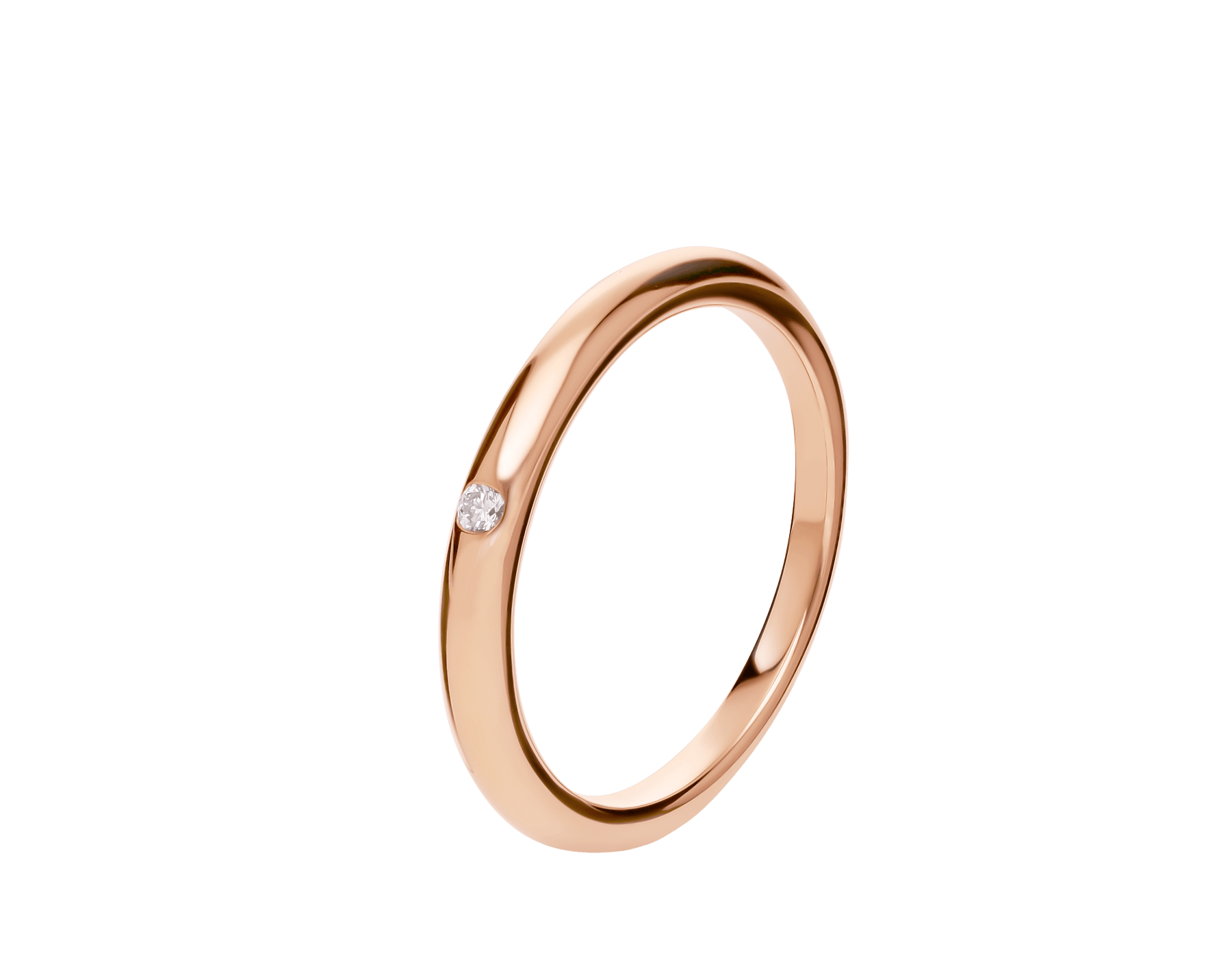 Fedi Wedding Band in 18 kt rose gold set with one diamond AN857579 image 1