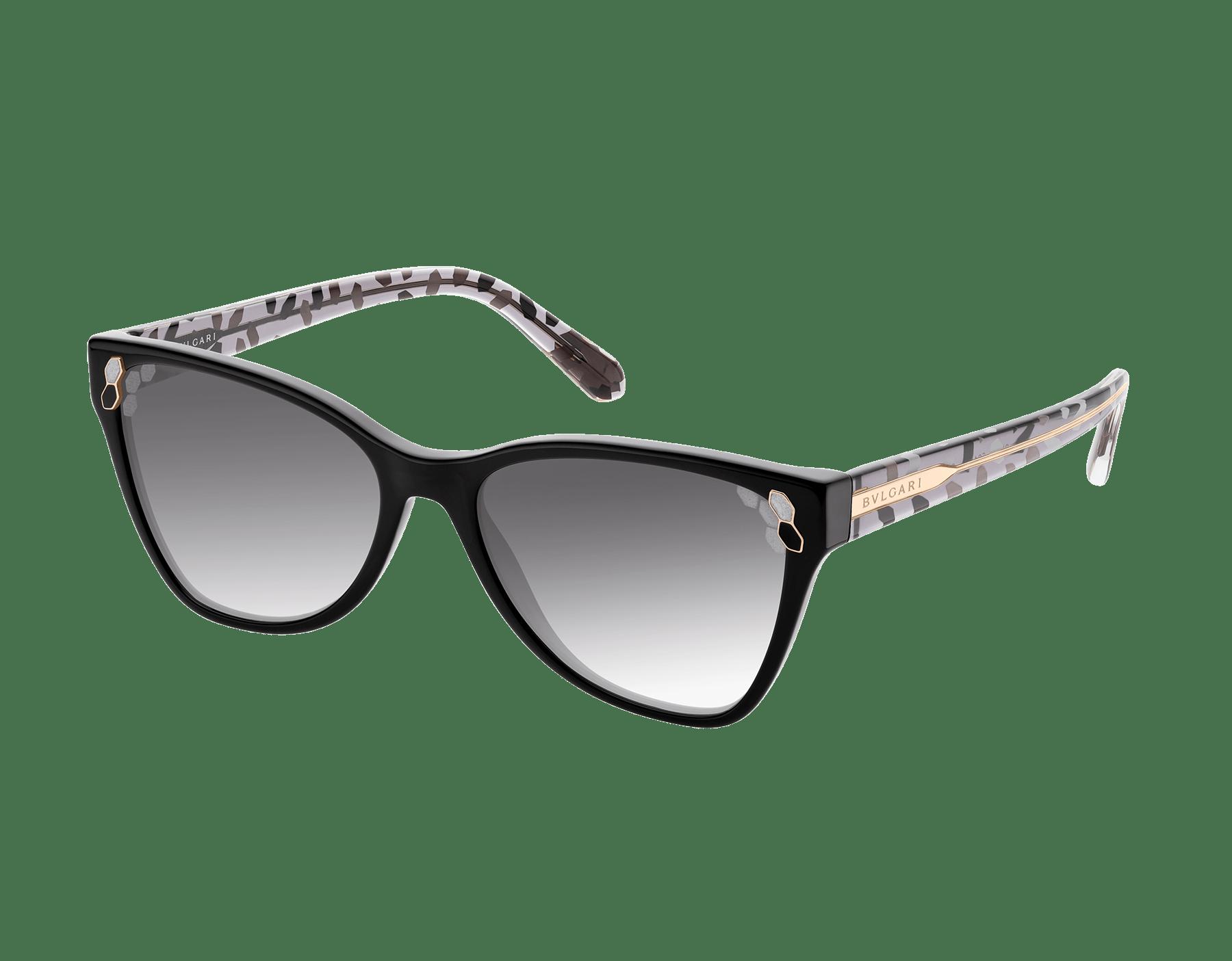 Óculos de sol Bvlgari Serpenti Powercandy com formato olho de gato em acetato. 903570 image 1