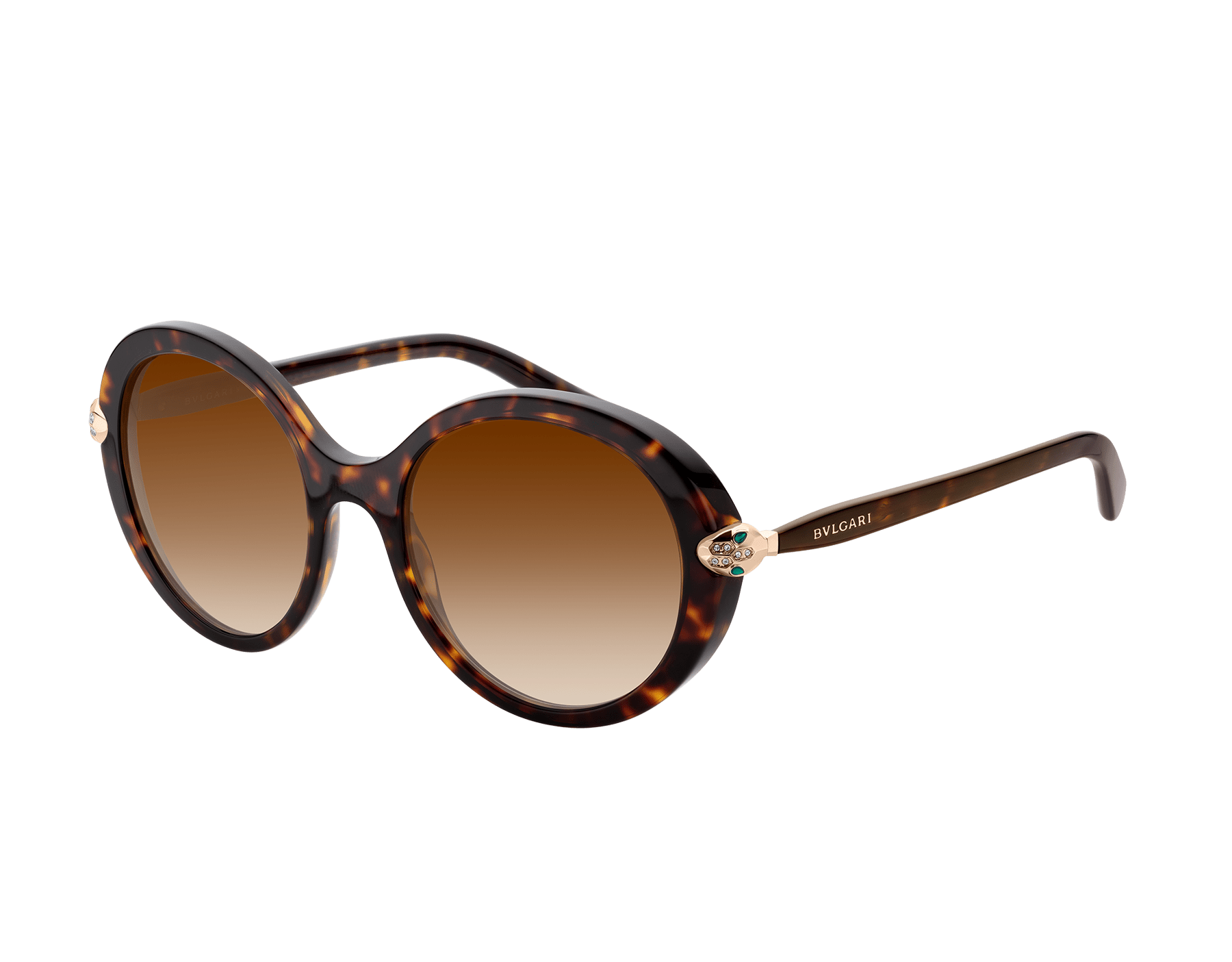 Óculos de sol Serpenti com formato redondo em acetato. Disponível em Asian Fit. 903583 image 1
