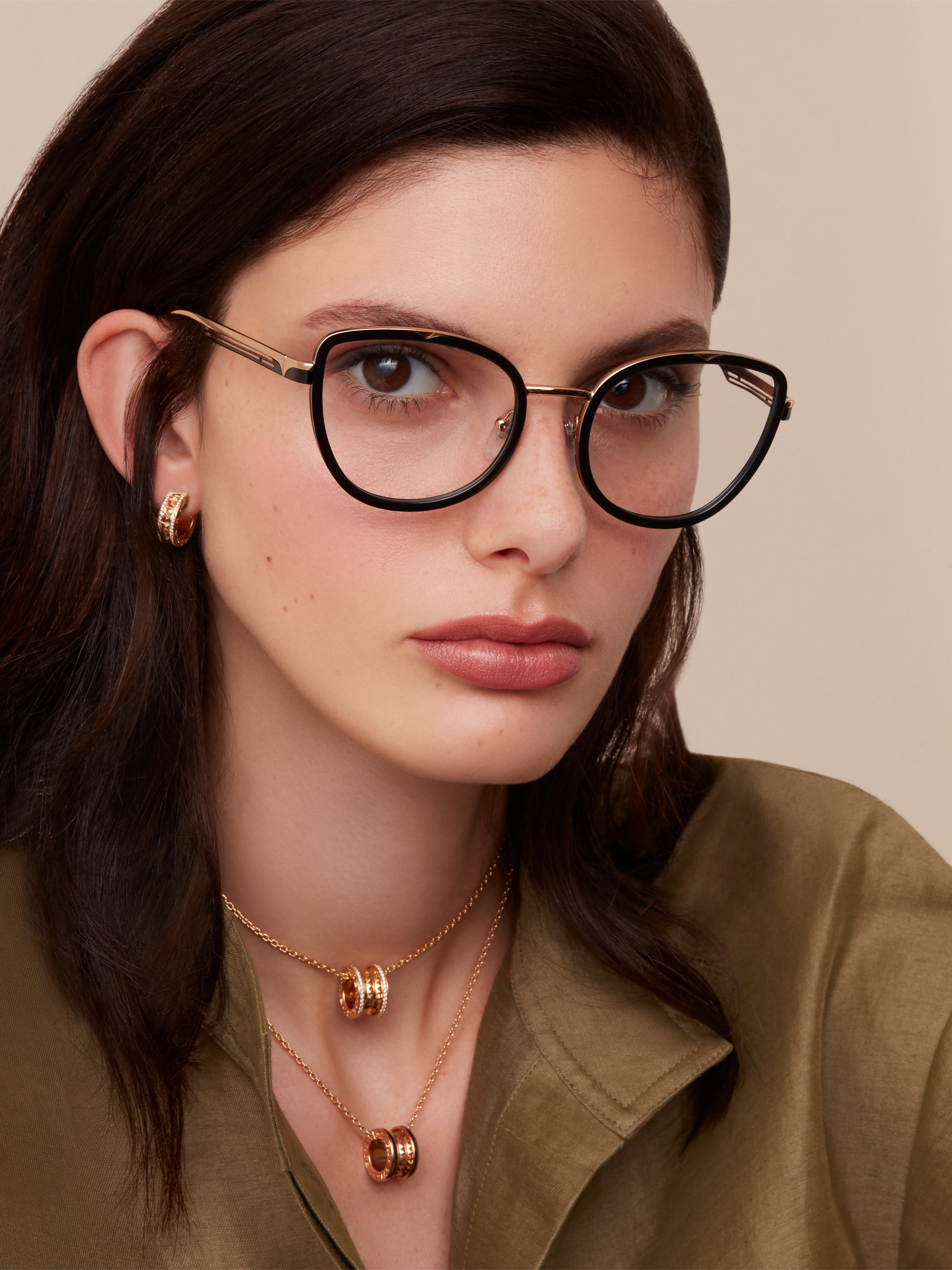 "Bvlgari B.zero1 ""B.cool"" metal cat-eye glasses. 904047 image 3"