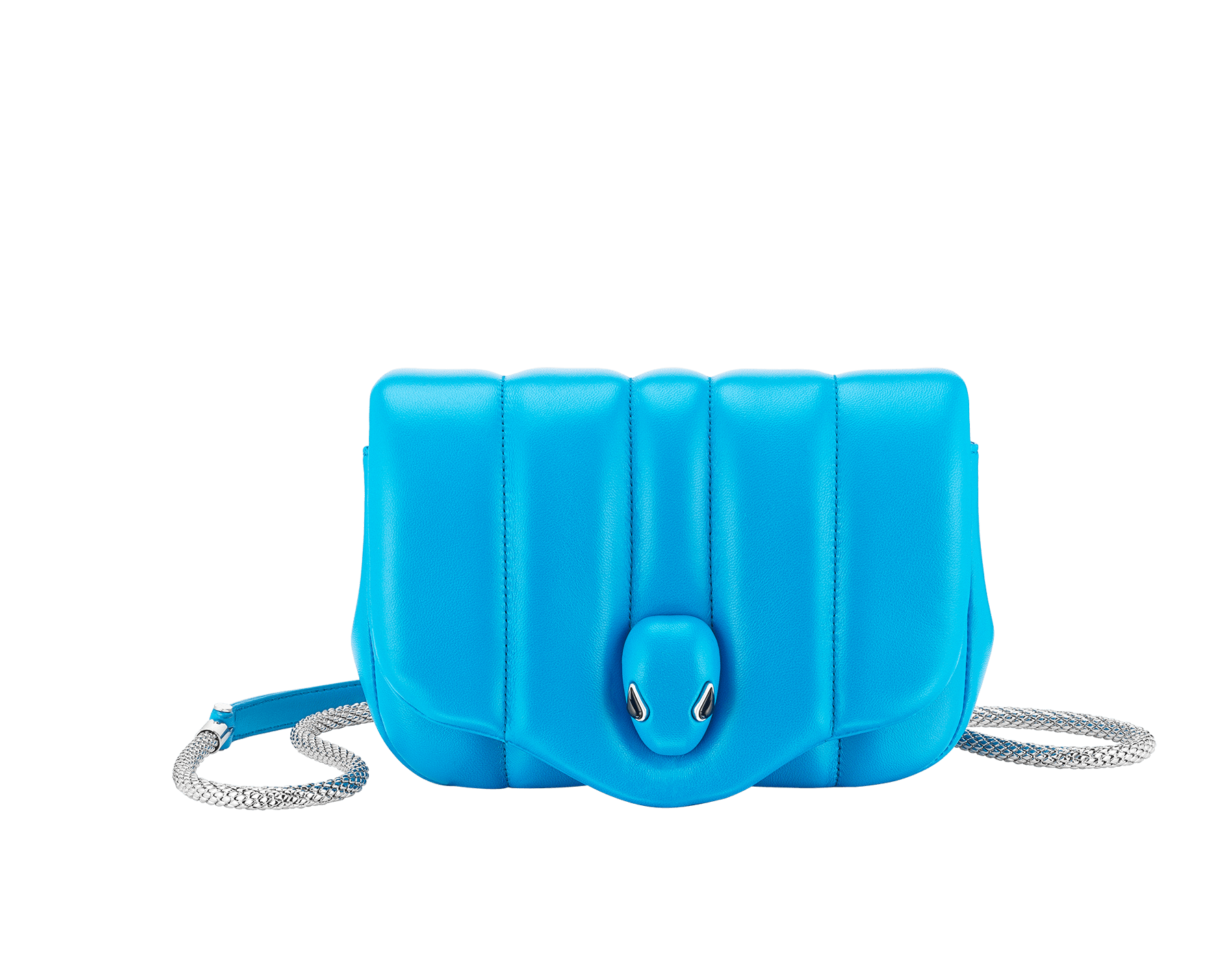 """Ambush x Bvlgari"" belt bag in bright green nappa leather. New Serpenti head closure in palladium plated brass dressed with bright green nappa leather, finished with seductive black onyx eyes. Limited edition. YA-1059 image 1"