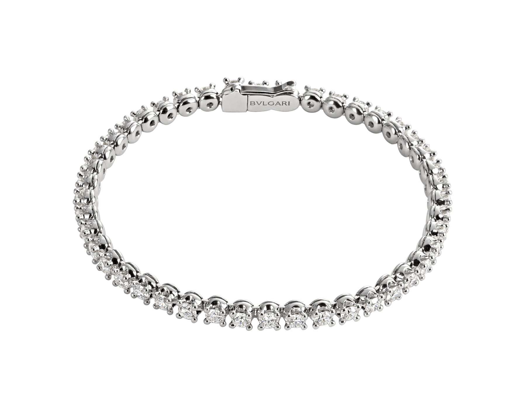 Corona 18 kt white gold tennis bracelet with round brilliant cut diamonds BR850566 image 1