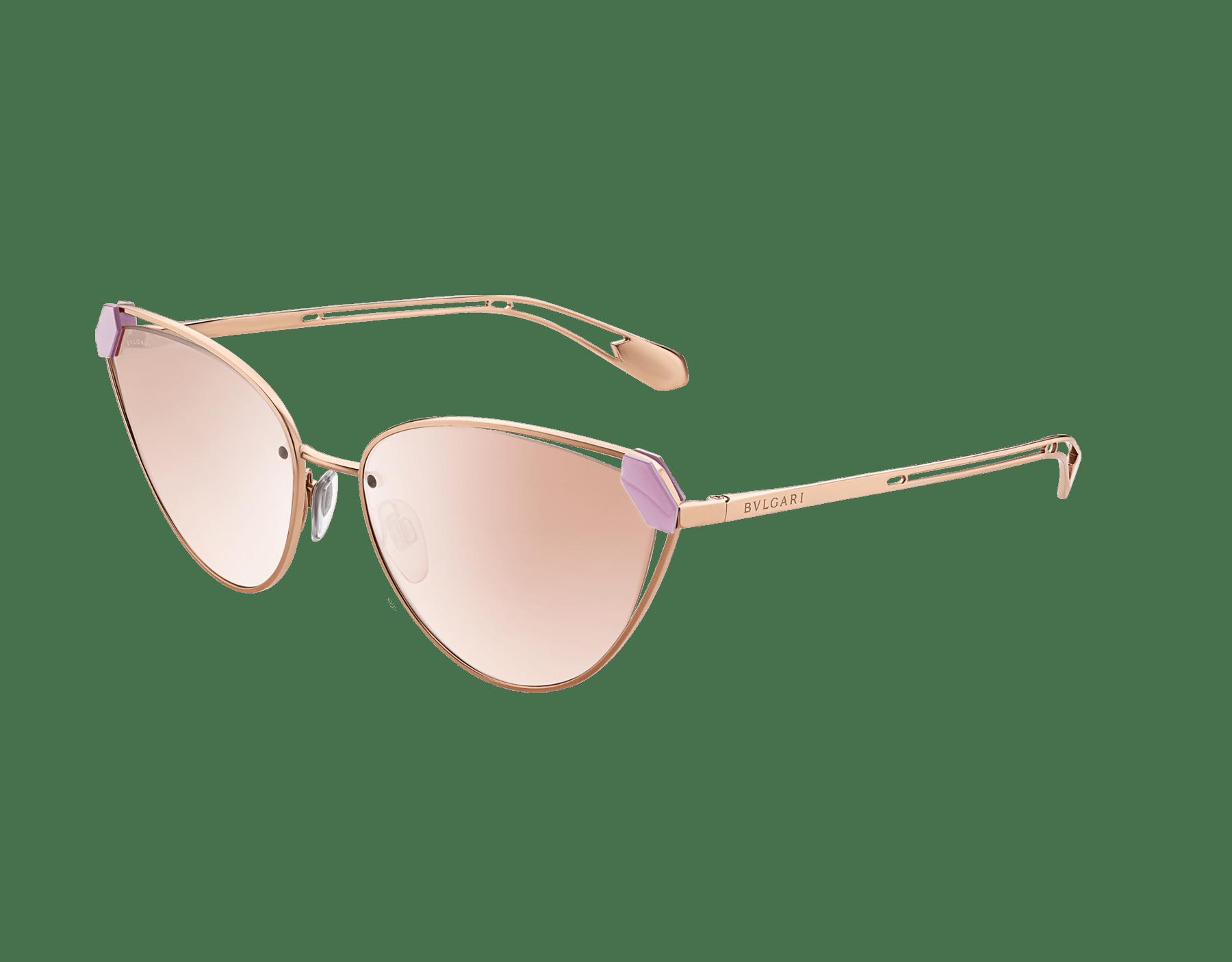 Bvlgari Serpenti Candy Scale narrow cat-eye metal sunglasses. 903727 image 1