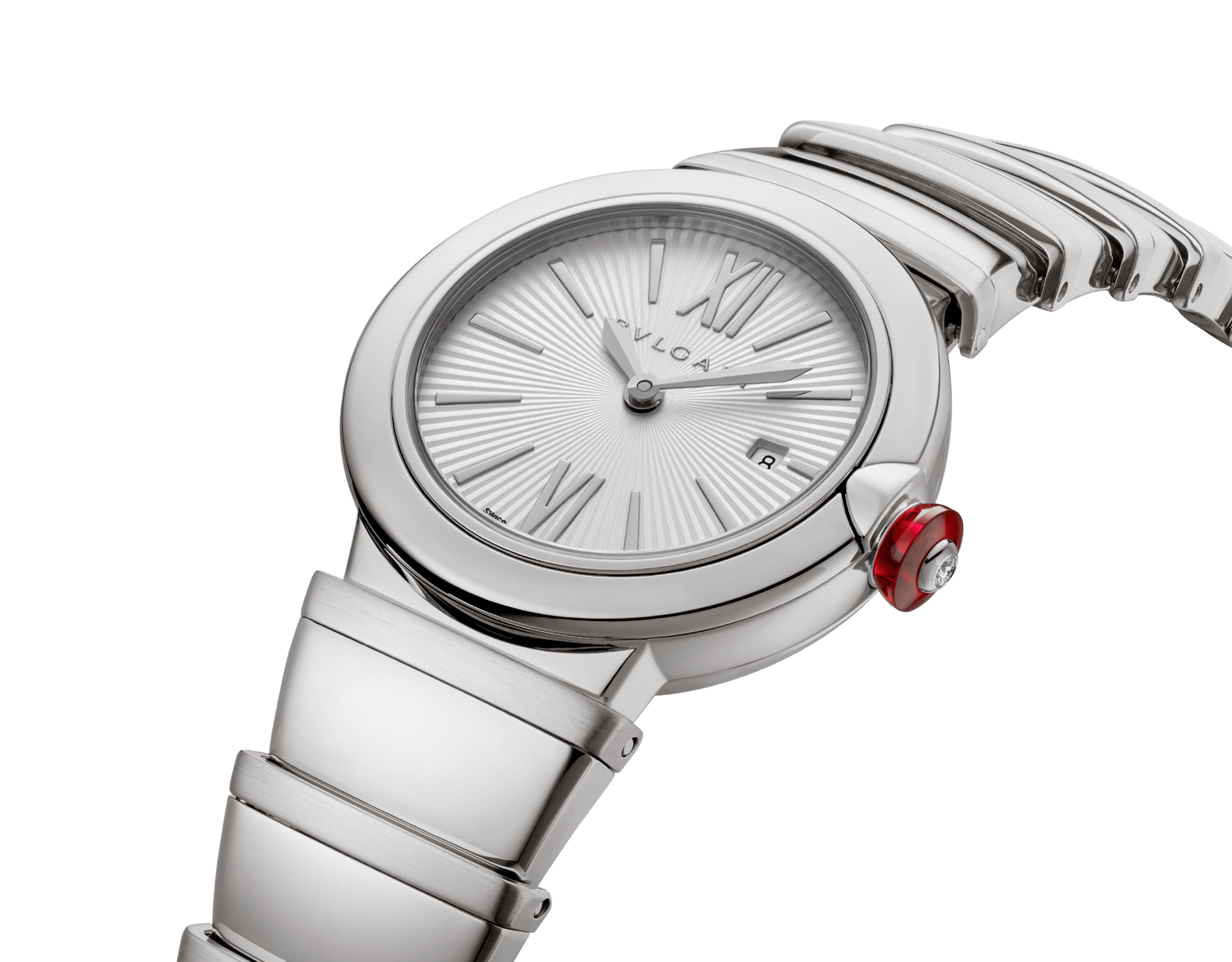 LVCEA watch in stainless steel case and bracelet, with silver opaline dial. 102195 image 2
