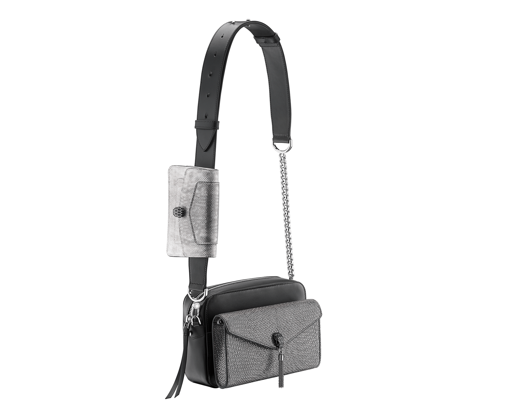Mix the versatile camera bag with the matching pochettes 7-ways-bag-black-camera-bag-and-two-pochettes image 1