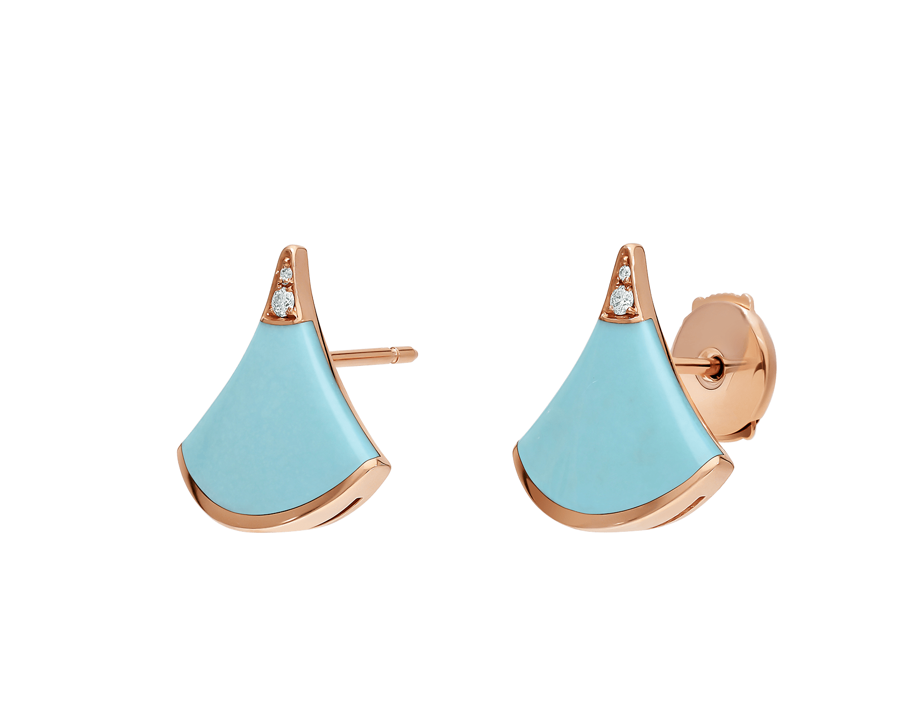 Celebrating both charismatic colours and the essence of feminine beauty, the DIVAS' DREAM earrings shine with the brilliance of turquoise, refined with a delicate diamond sparkle. 353036 image 2
