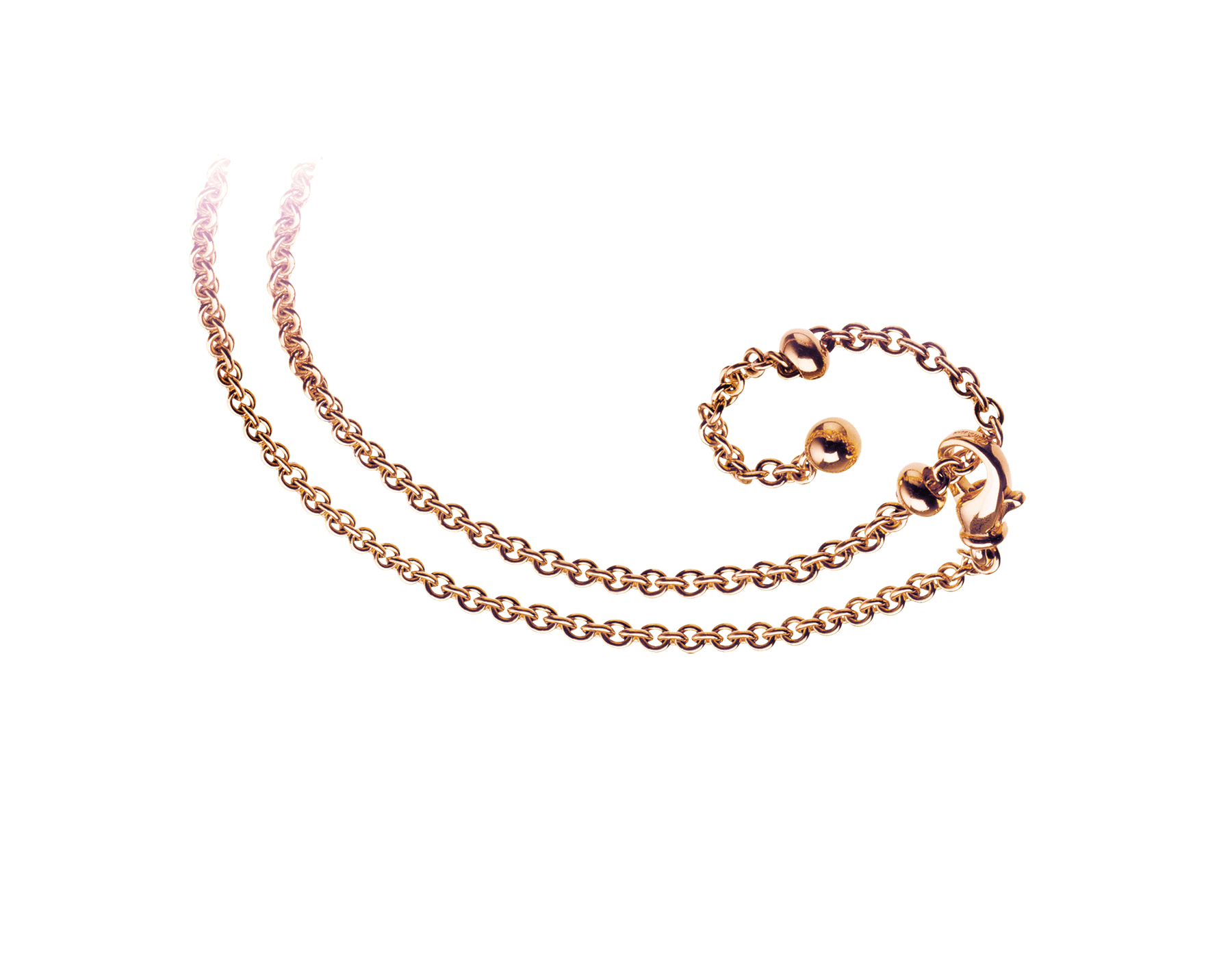 Cadena Catene en oro rosa de 18qt adaptable a tres longitudes. 356114 image 1