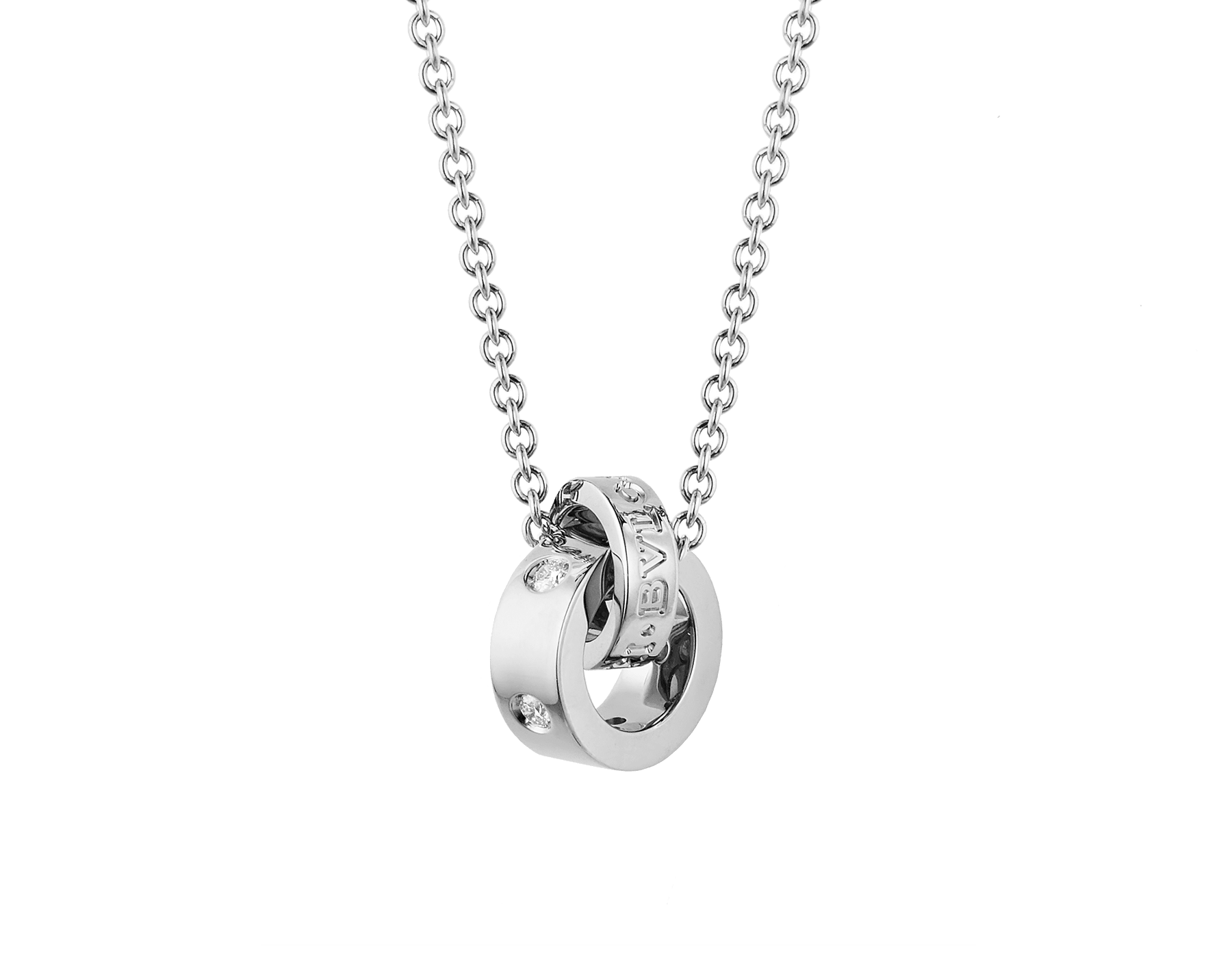 BVLGARI BVLGARI necklace with 18 kt white gold chain and 18 kt white gold pendant set with five diamonds (0.15 ct) 354029 image 1