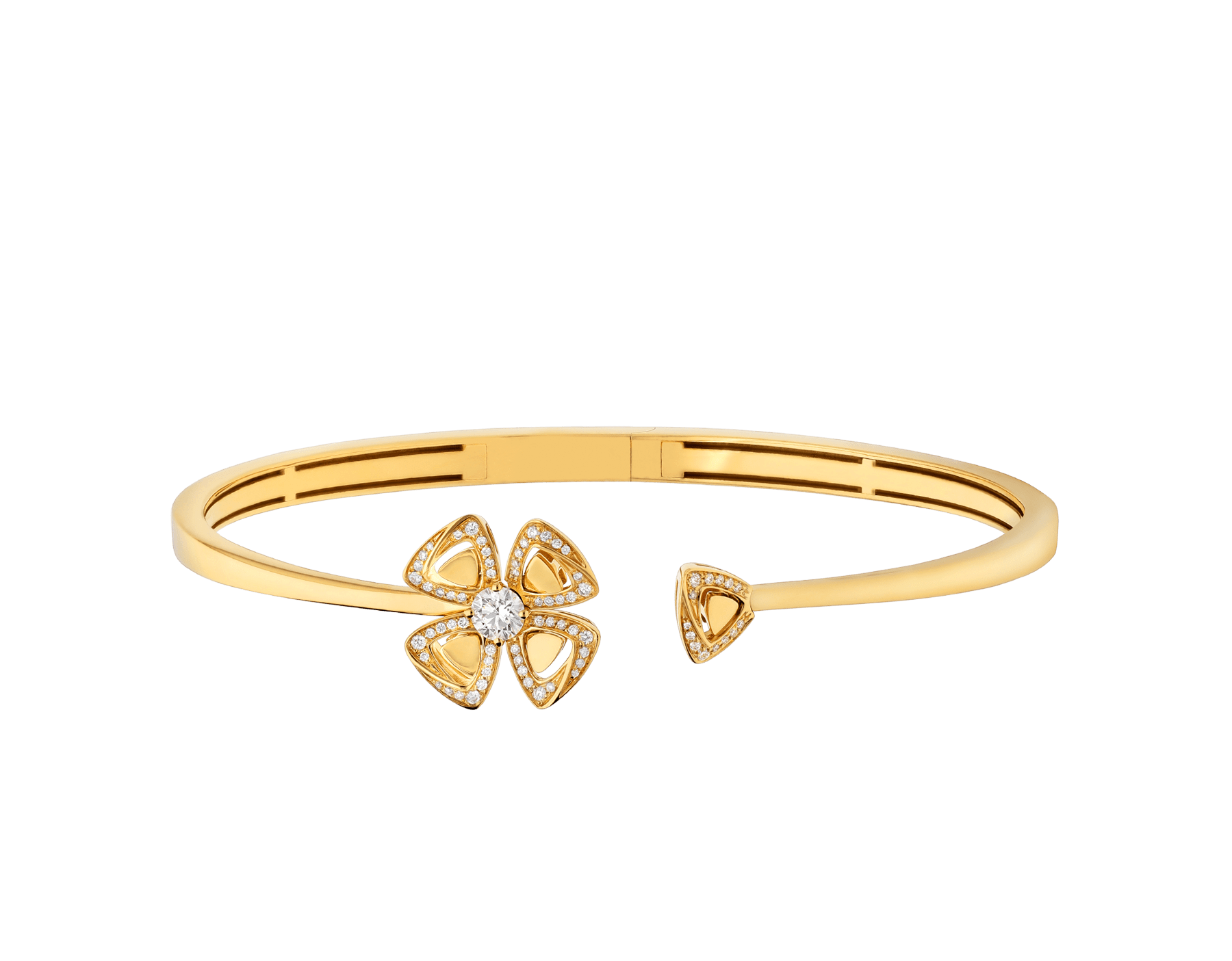 Fiorever 18 kt yellow gold bracelet set with a central diamond (0.20 ct) and pavé diamonds (0.15 ct) BR858997 image 2