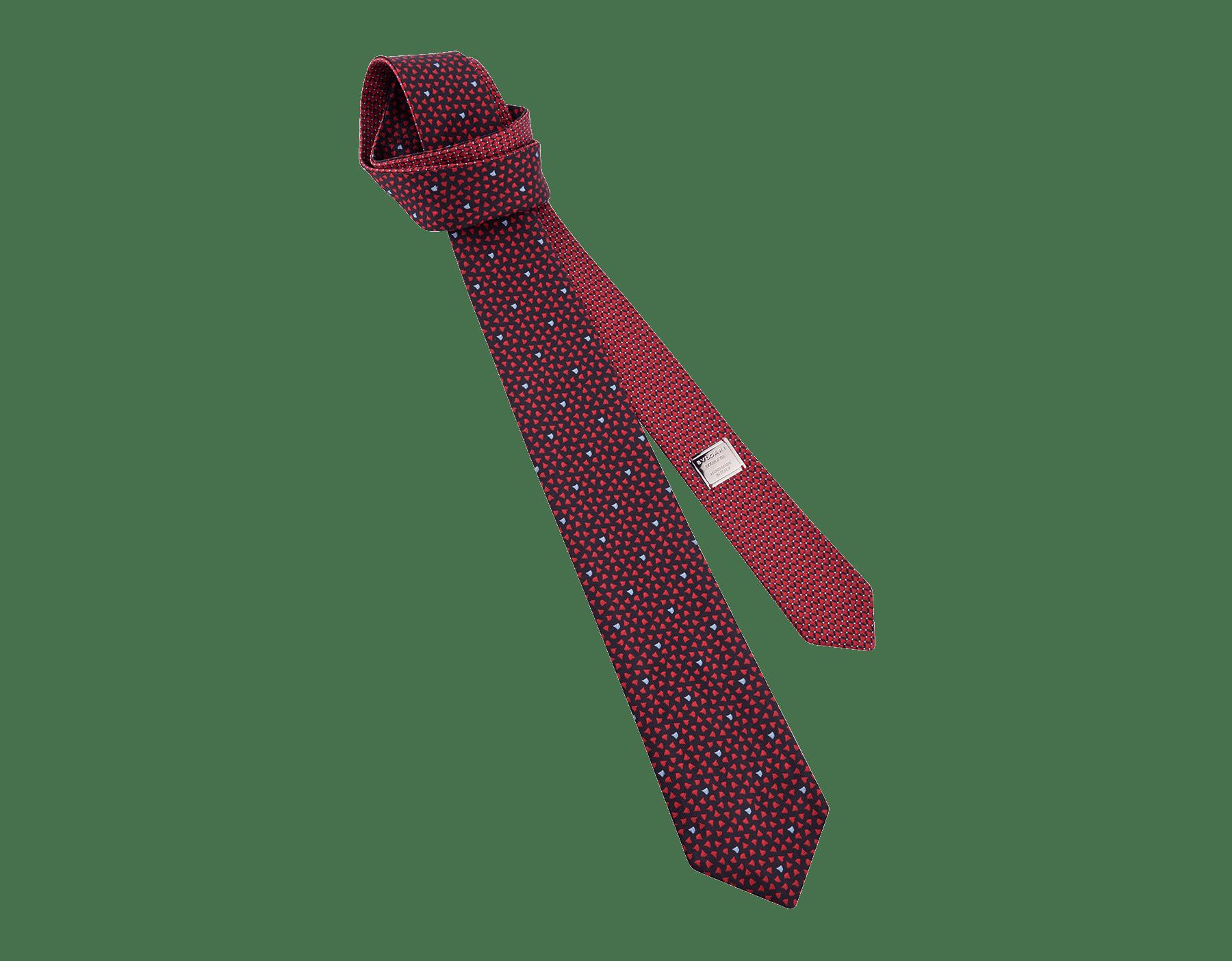 Red Double Diva Heat pattern tie in fine silk. 243431 image 1