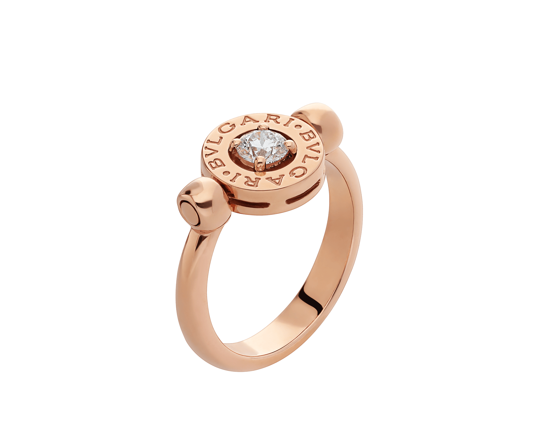 Anillo BVLGARI BVLGARI reversible en oro rosa de 18 qt con un diamante. AN853336 image 1