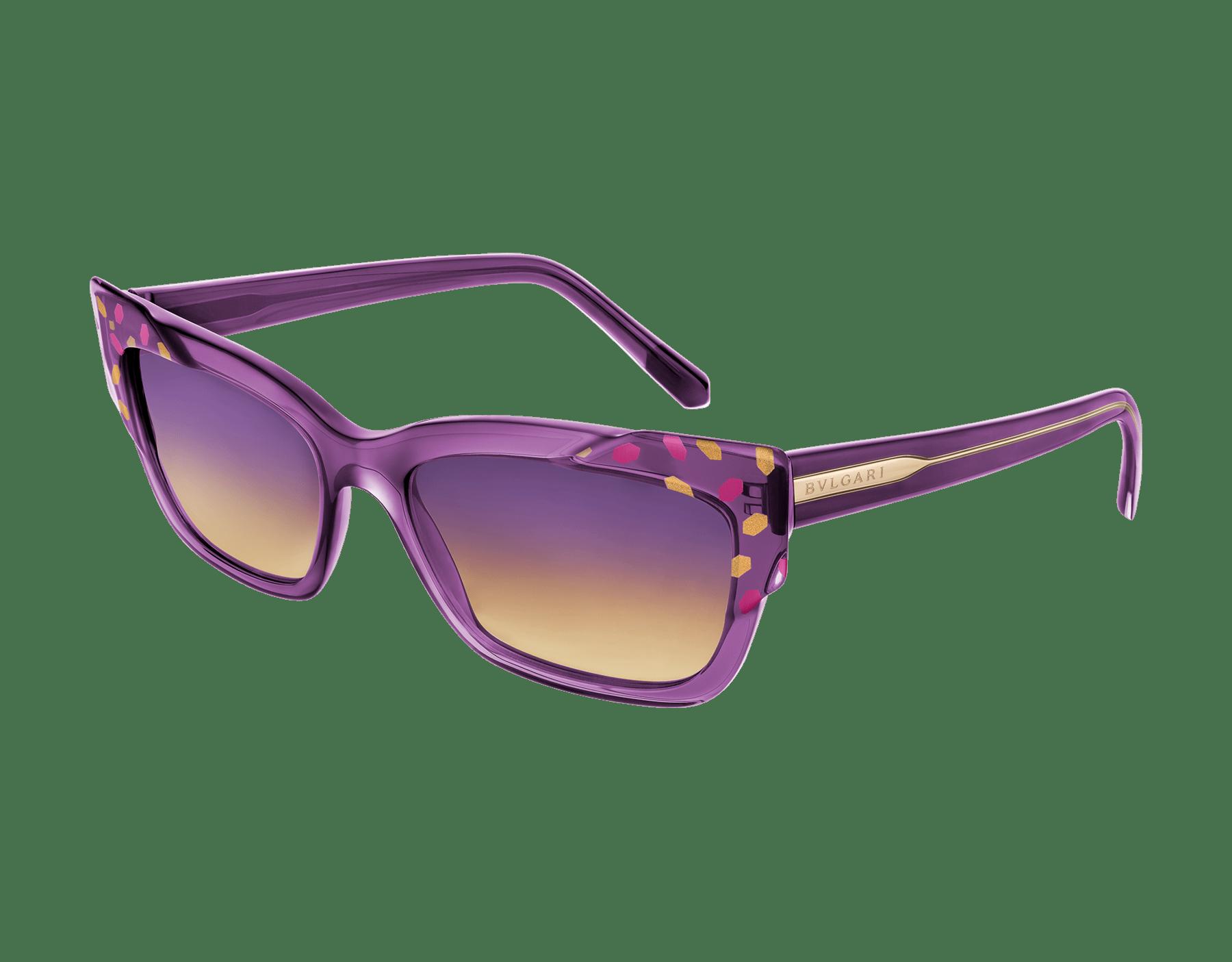 Bvlgari Serpenti Scale-blast rectangular cat-eye acetate sunglasses. 903738 image 1