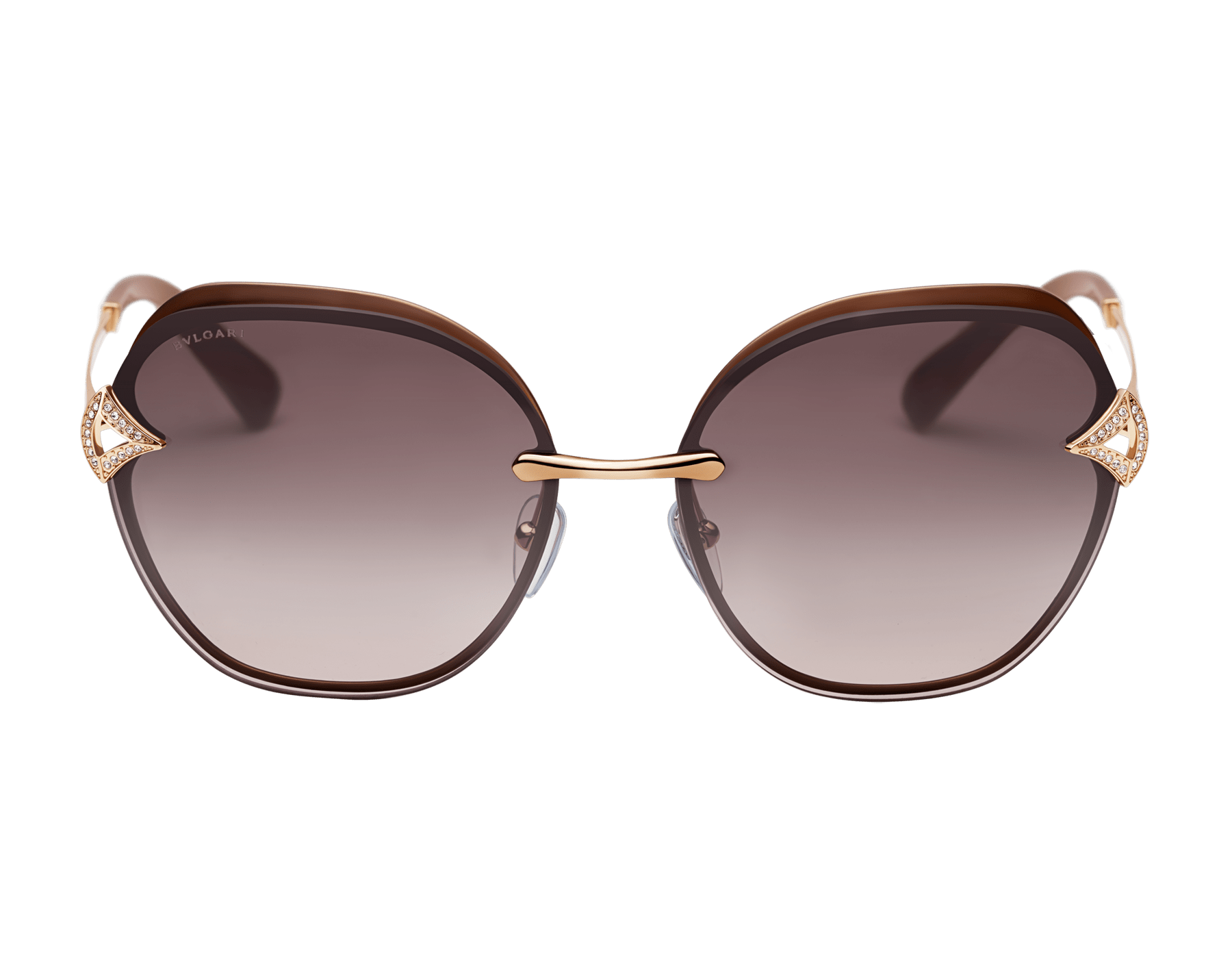 Bvlgari DIVAS' DREAM angular squared metal sunglasses 903670 image 2
