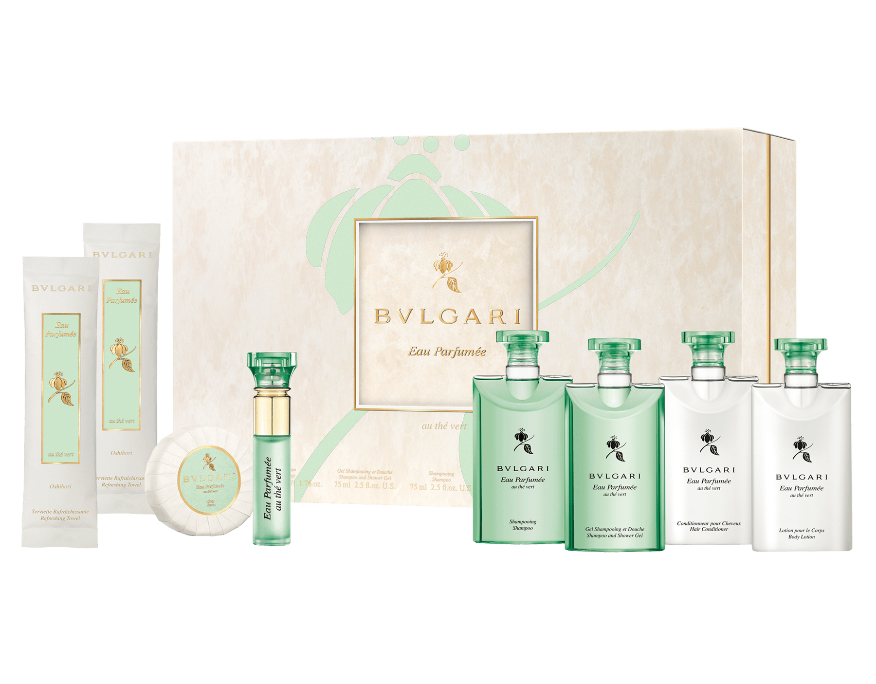 Experience an enveloping sense of wellness amplified by the elegant and revitalizing luxury scent of Eau Parfumée au Thé Vert. 41072 image 1