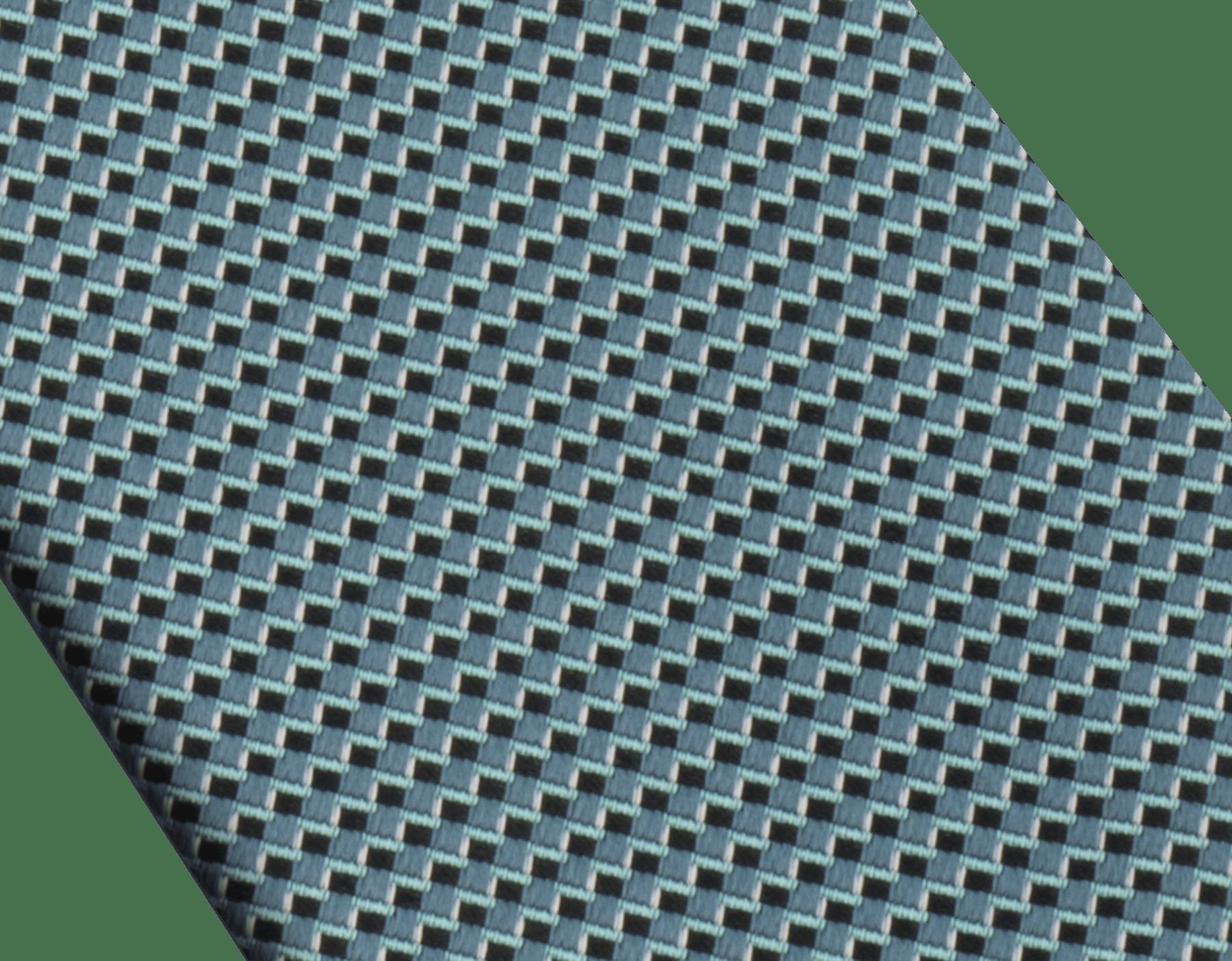 Cravatta turchese candy con motivo Diagono in pregiata seta jacquard. 242317 image 2