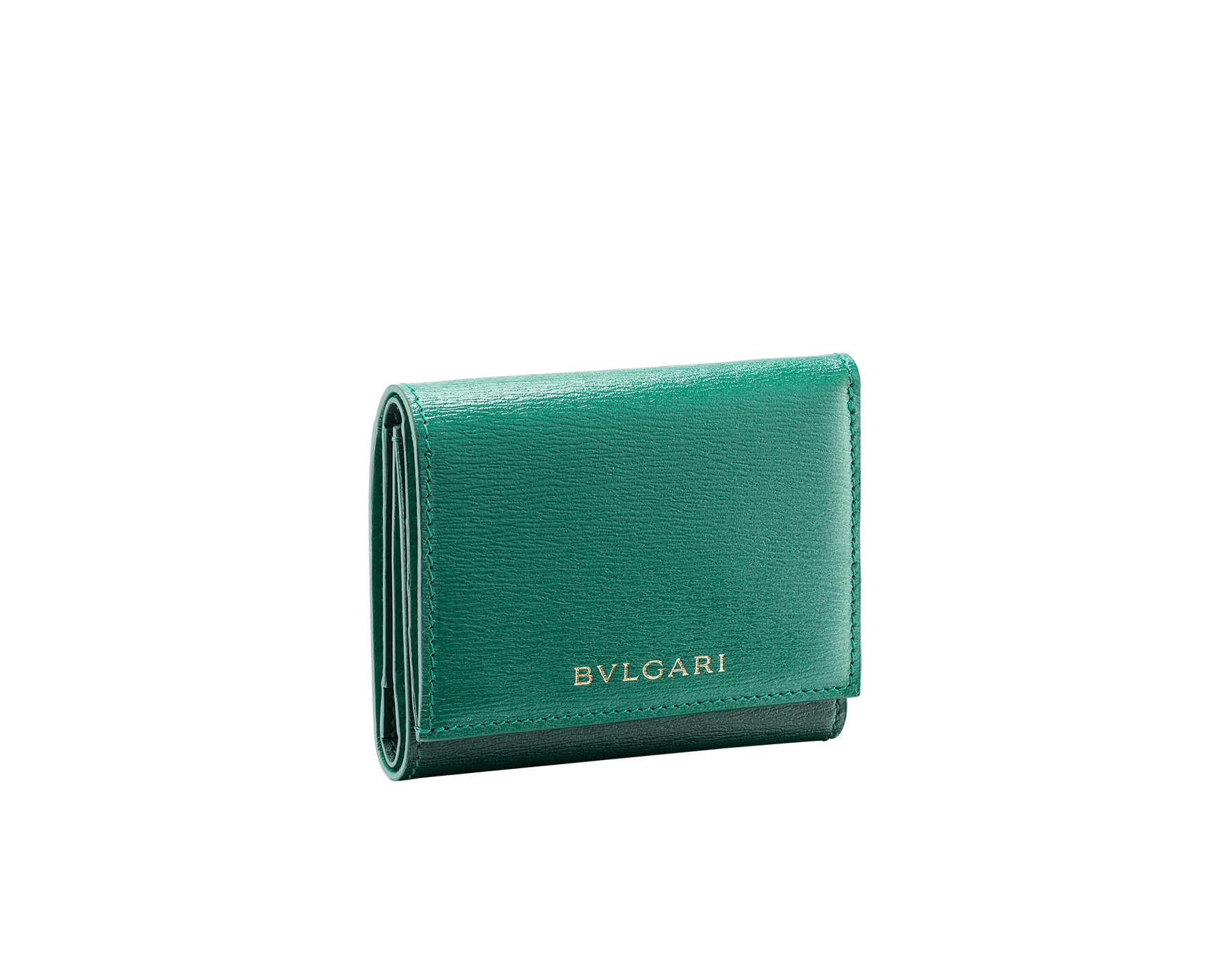 B.zero1 compact wallet in daisy topaz, taffy quartz goatskin and taffy quartz nappa leather. Iconic B.zero1 zipper in light gold plated brass and two press stud closures. BZA-SLIMCOMPACT image 1