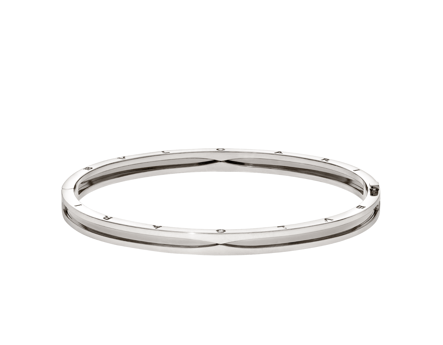 B.zero1 18 kt white gold bangle bracelet BR858727 image 2