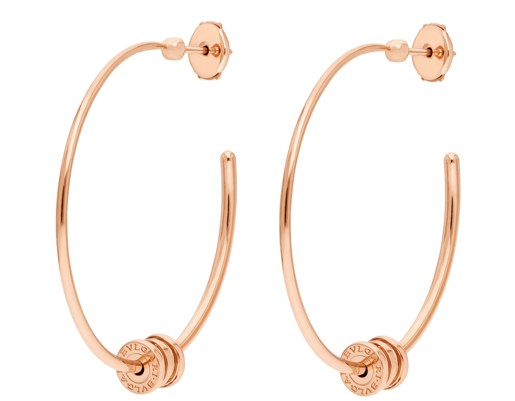 B.zero1 18 kt rose gold hoop earrings 357096 image 1