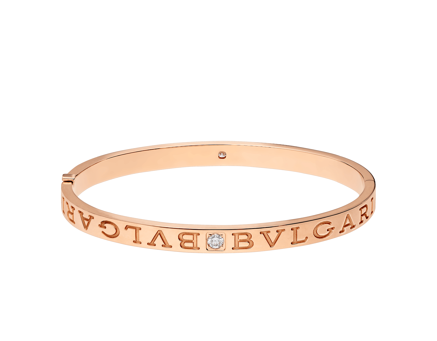 BVLGARI BVLGARI 18 kt rose gold bangle bracelet set with diamonds BR856760 image 2