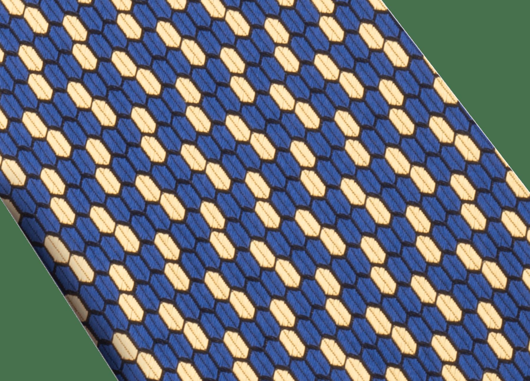 イエローのダブル マルチスケール ネクタイ。上質なジャカードシルク製。 244430 image 2