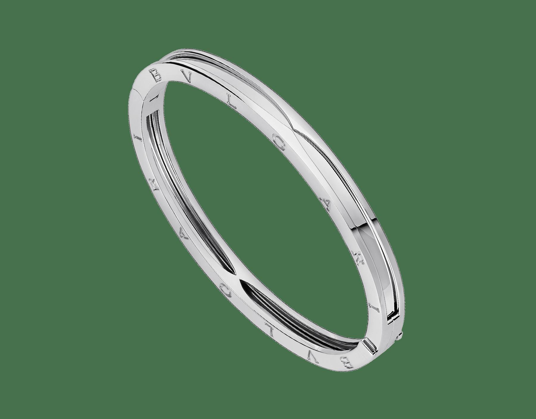 B.zero1 bangle bracelet in 18 kt white gold. BR857412 image 1