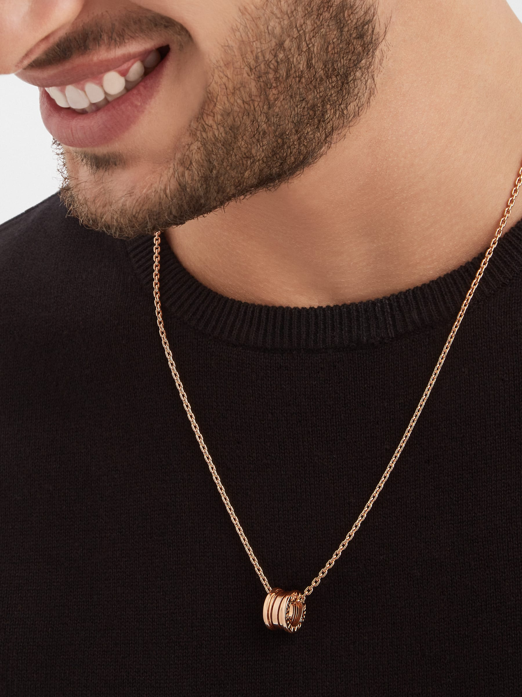 B.zero1 pendant necklace in 18 kt rose gold 358348 image 5