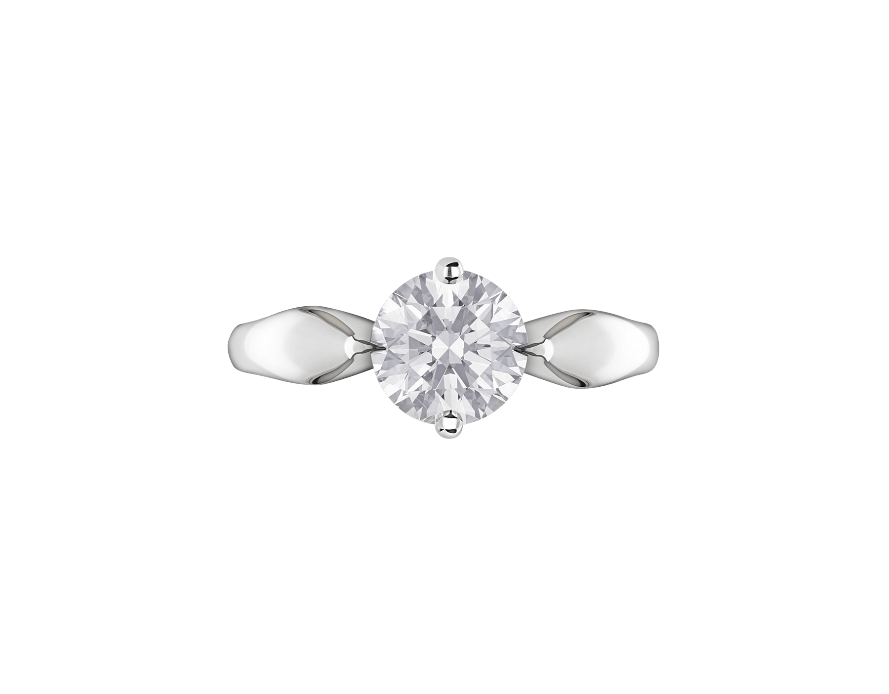 Dedicata a Venezia: Torcello platinum ring with a round brilliant cut diamond 343723 image 4