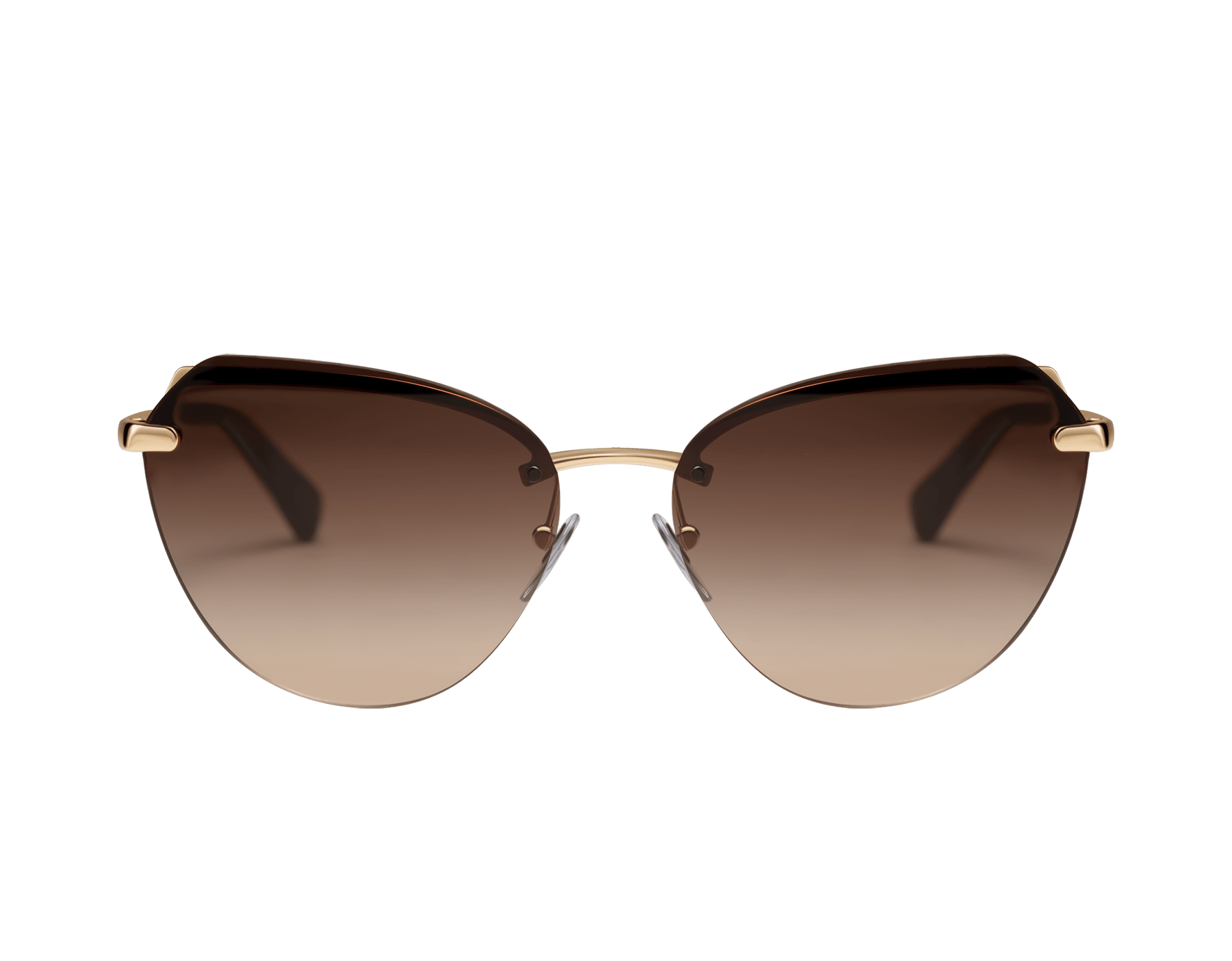 Bulgari Le Gemme Serpenti gold plated cat-eye sunglasses with mother-of-pearl inserts. 903906 image 2