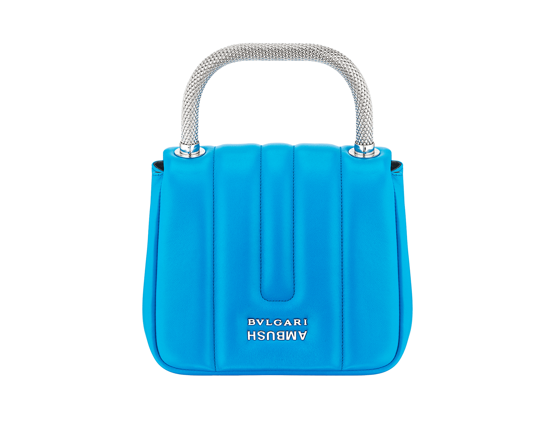 """Ambush x Bvlgari"" top handle bag in bright blue nappa leather. New Serpenti head closure in palladium plated brass dressed with bright blue nappa leather, finished with seductive black onyx eyes. Limited edition. 290344 image 3"