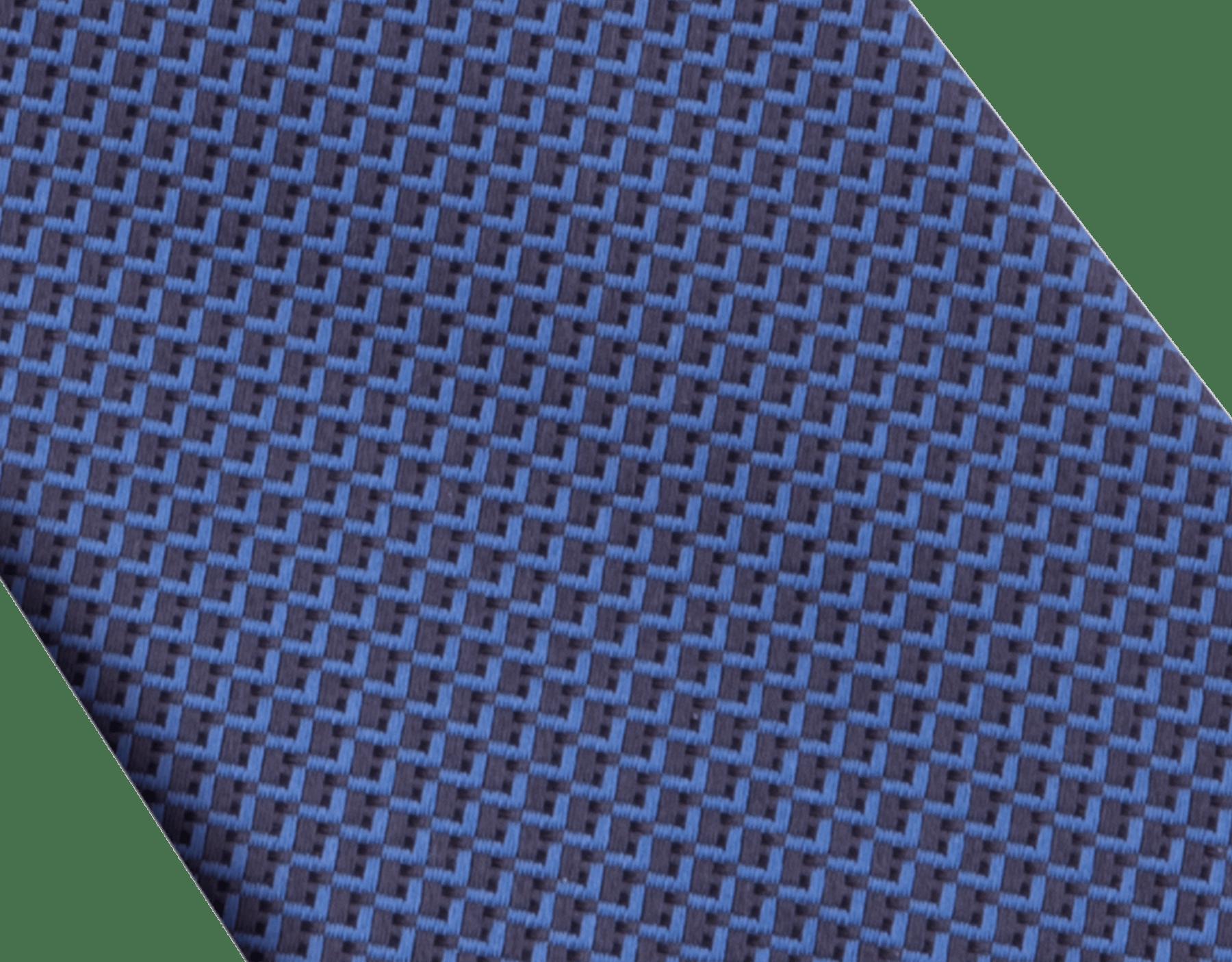 Navy Double Peak pattern tie in fine silk. 243442 image 2