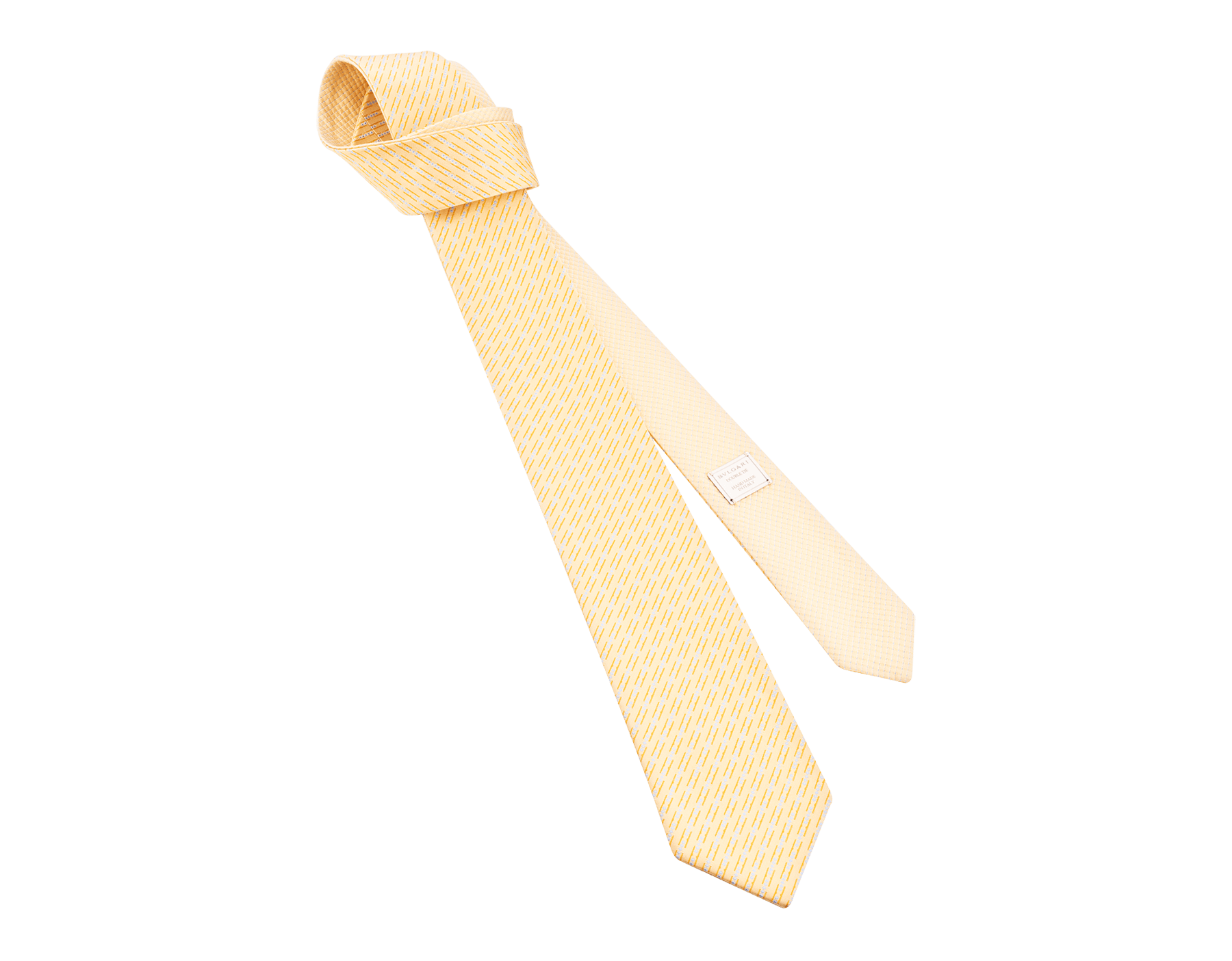 "Yellow ""Double BZero3D"" double-faced tie in fine silk. 244657 image 1"