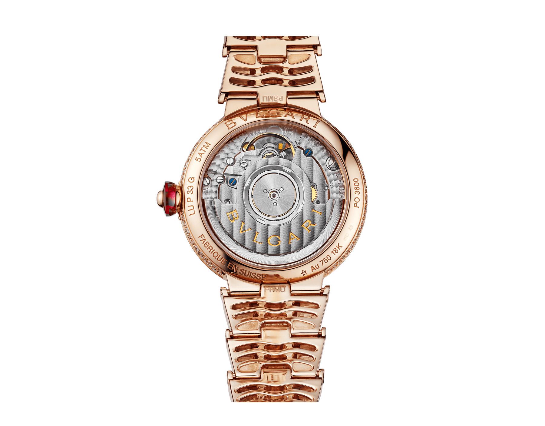 LVCEA watch in 18kt rose gold case and bracelet, both set with brilliant-cut diamonds, and full pavé diamond dial. 102617 image 4
