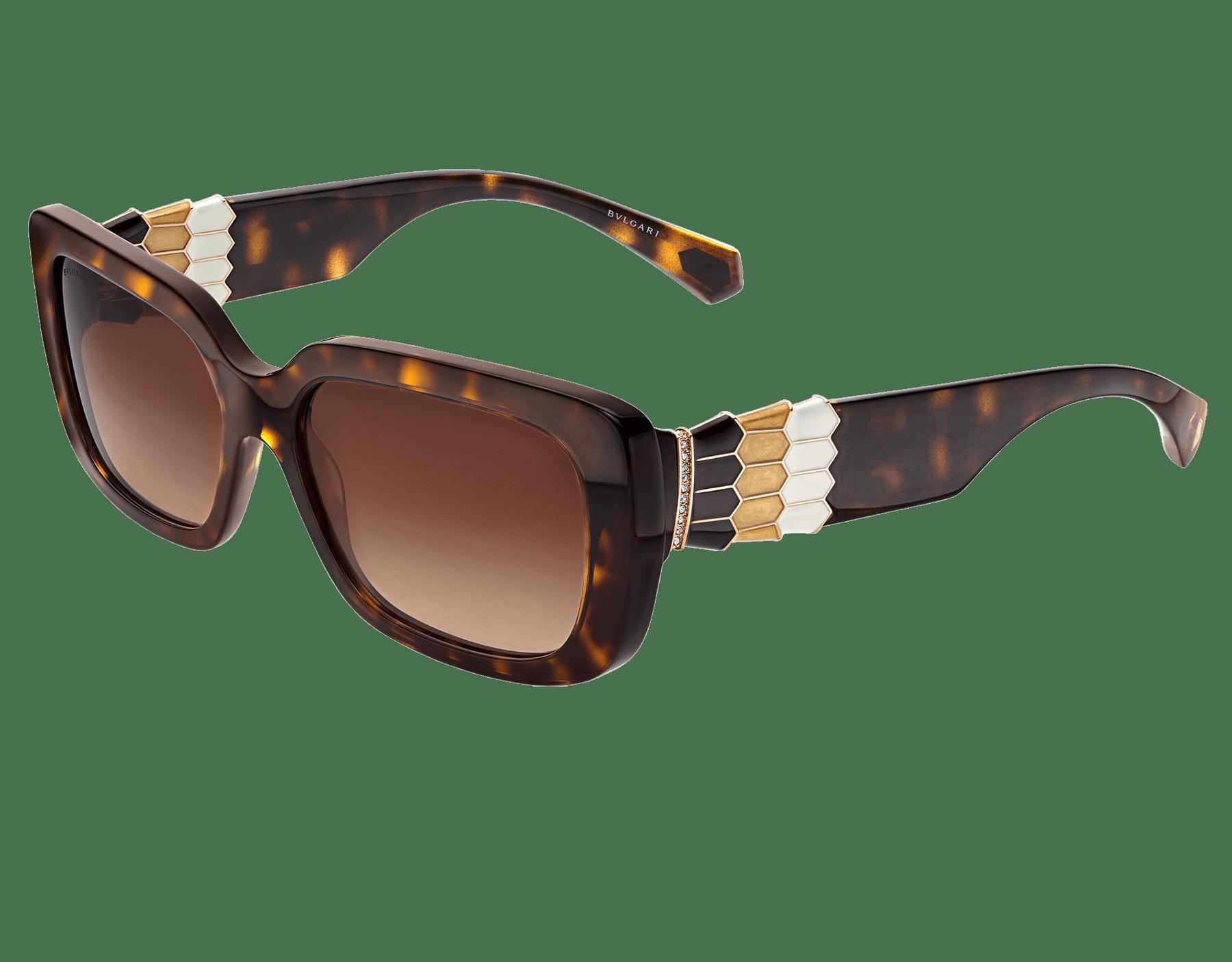 نظارات شمسية بولغري سيربنتيباك تو سكيل مستطيلة الشكل من الأسيتات. 903994 image 1