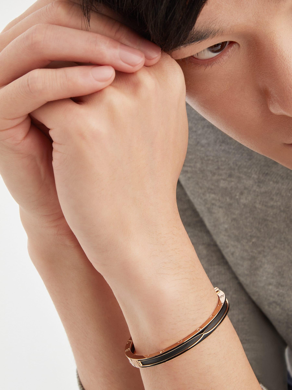 B.zero1 bracelet in 18 kt rose gold with matte black ceramic BR859063 image 1