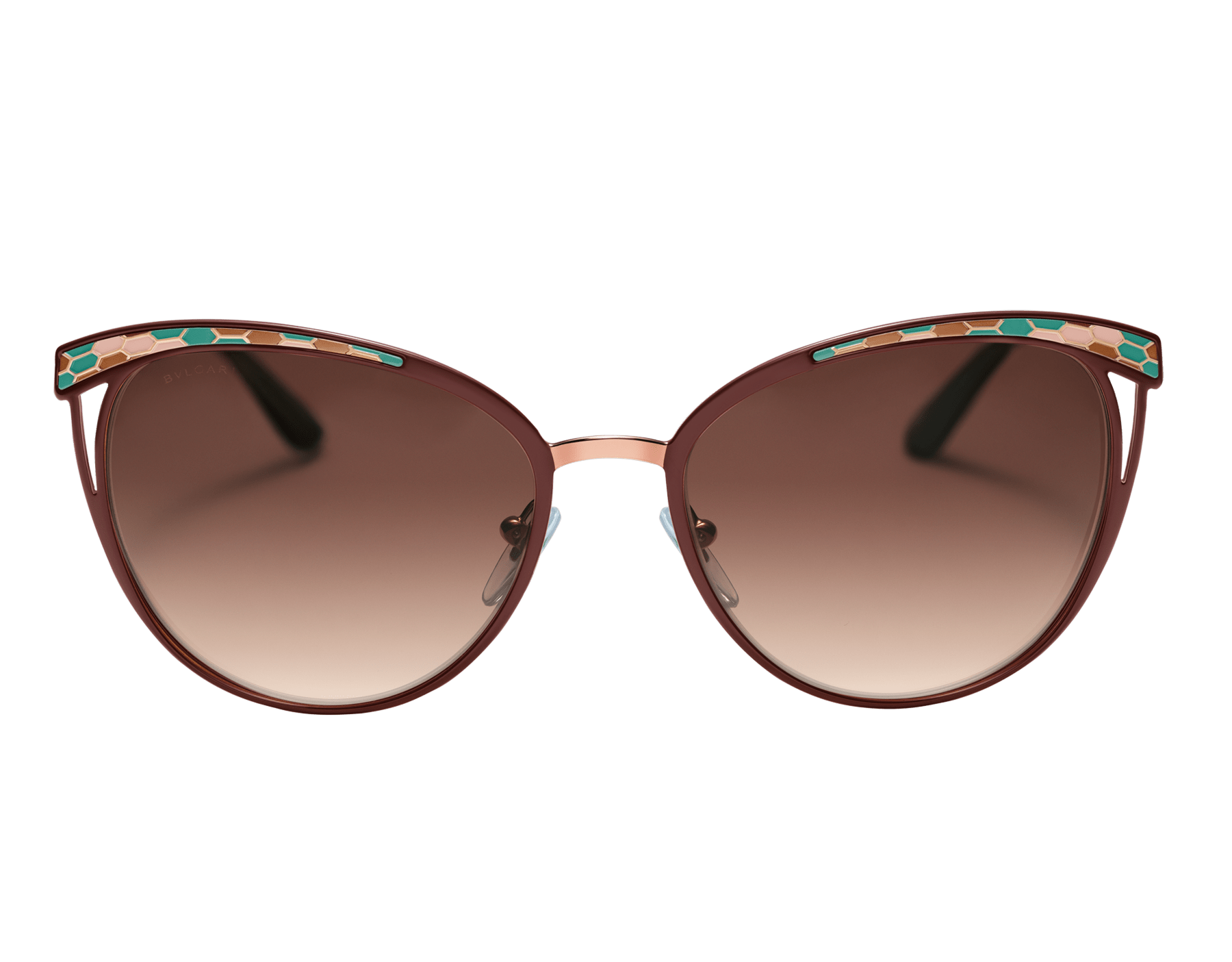 Bulgari Serpenti Serpentine cat-eye metal sunglasses. 903977 image 2