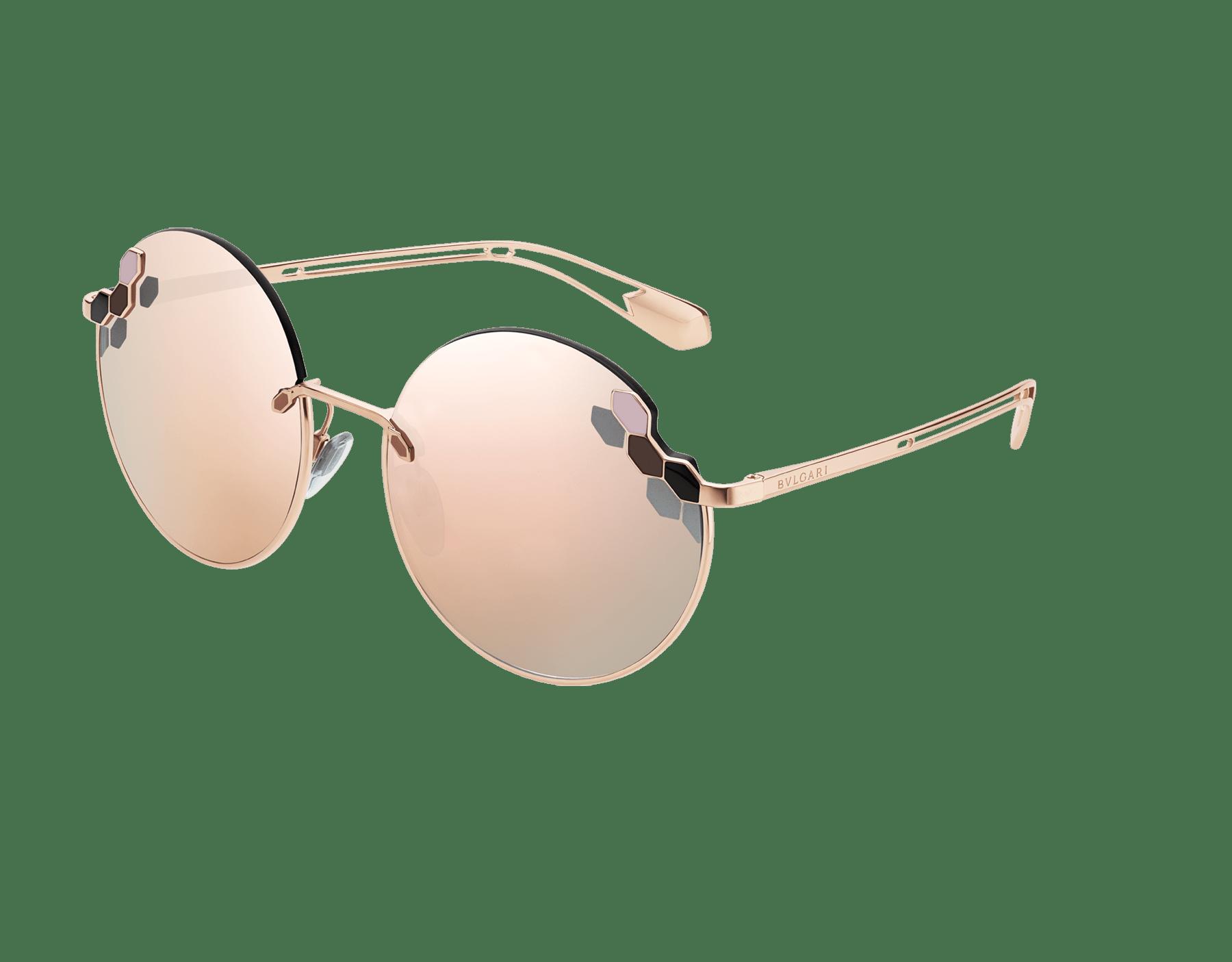 Bvlgari Serpenti Poisaround oversized round sunglasses. 903808 image 1