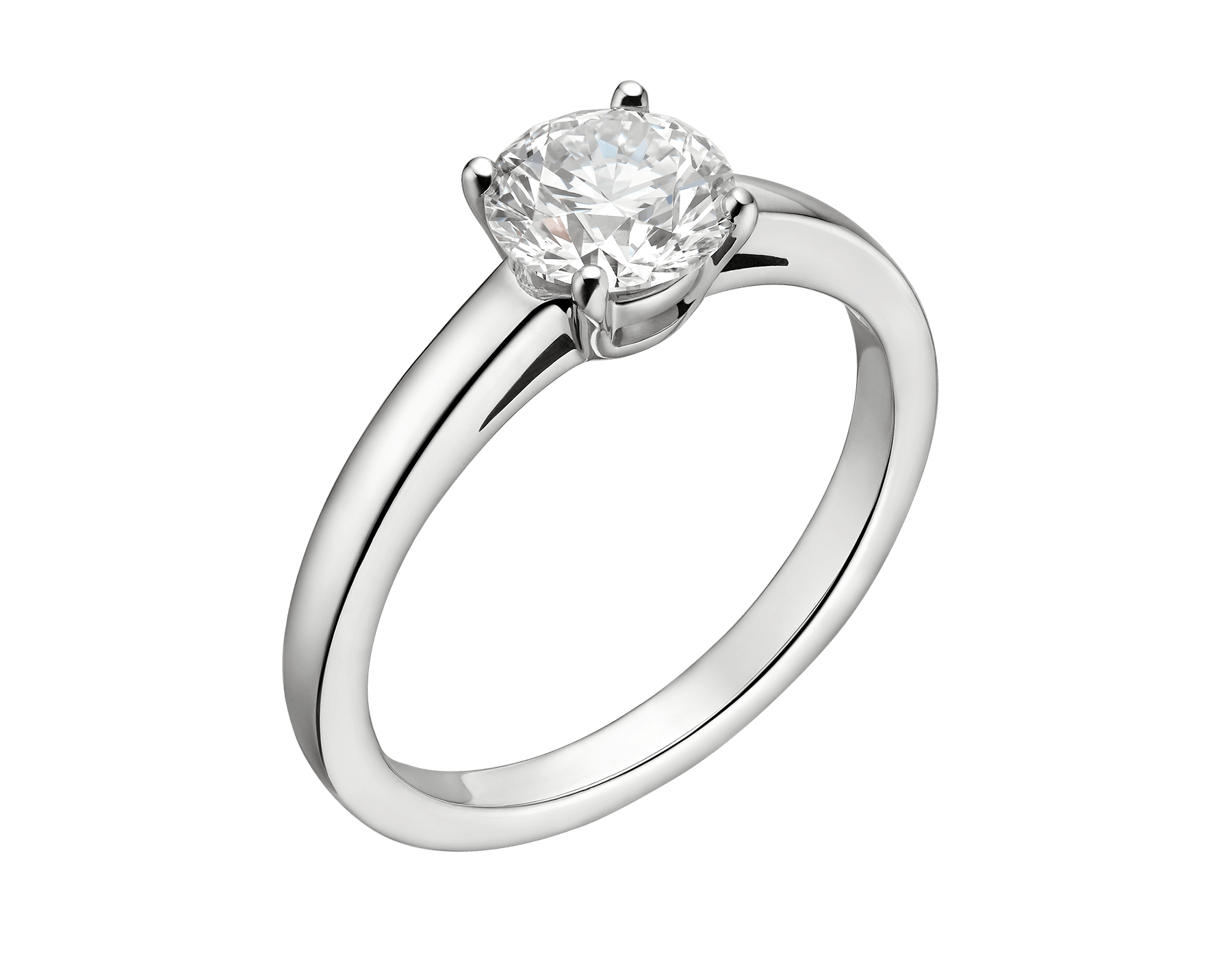 Griffe solitaire ring in platinum with round brilliant cut diamond AN201215 image 6